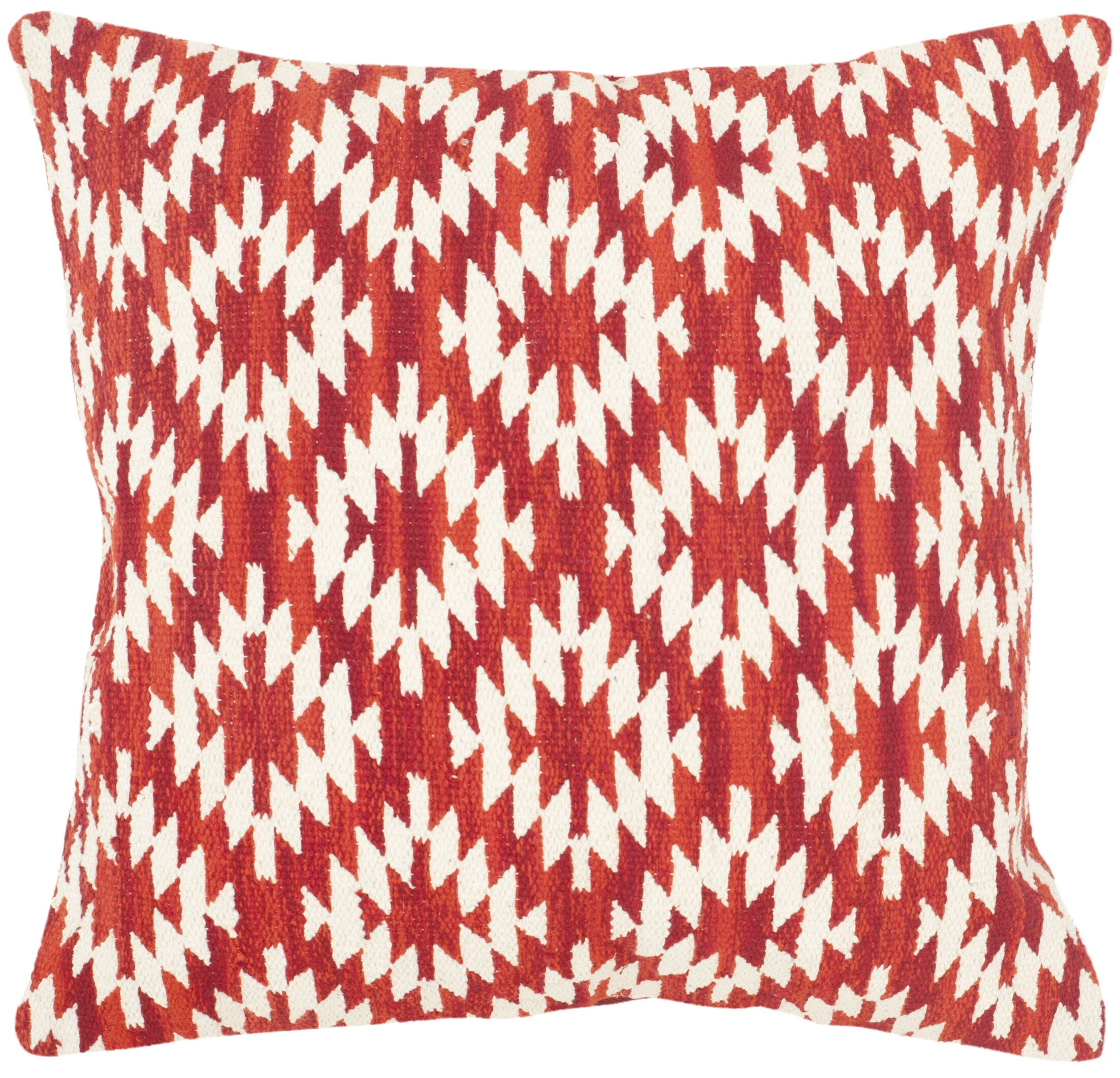 Southwest Cotton Throw Pillow Color: Red