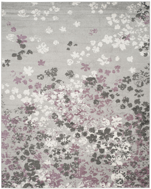 Ales Light Grey/Purple Area Rug Rug Size: Rectangle 8' x 10'