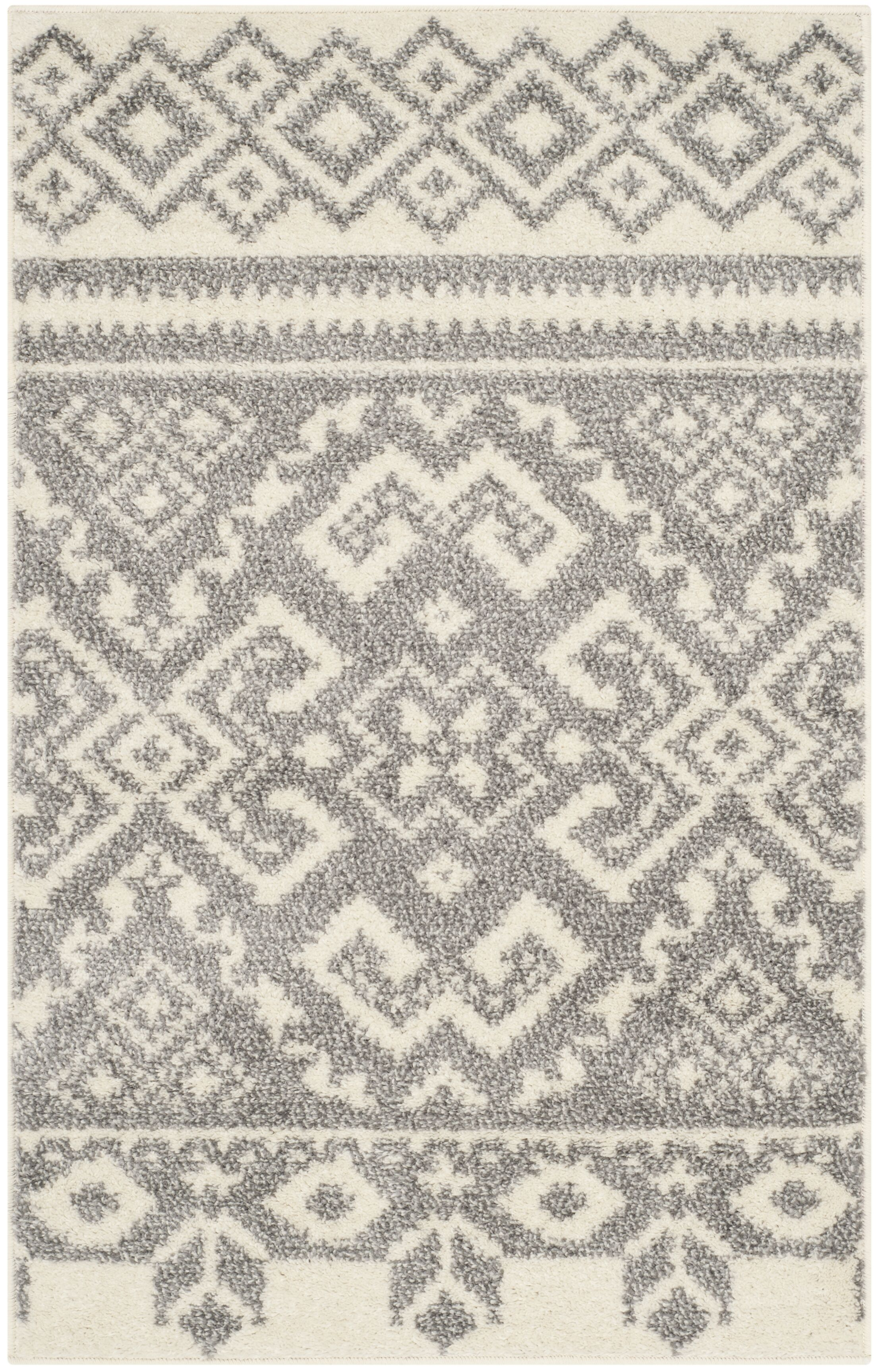 St. Ann Highlands Beige/Silver Area Rug Rug Size: Rectangle 10' x 14'