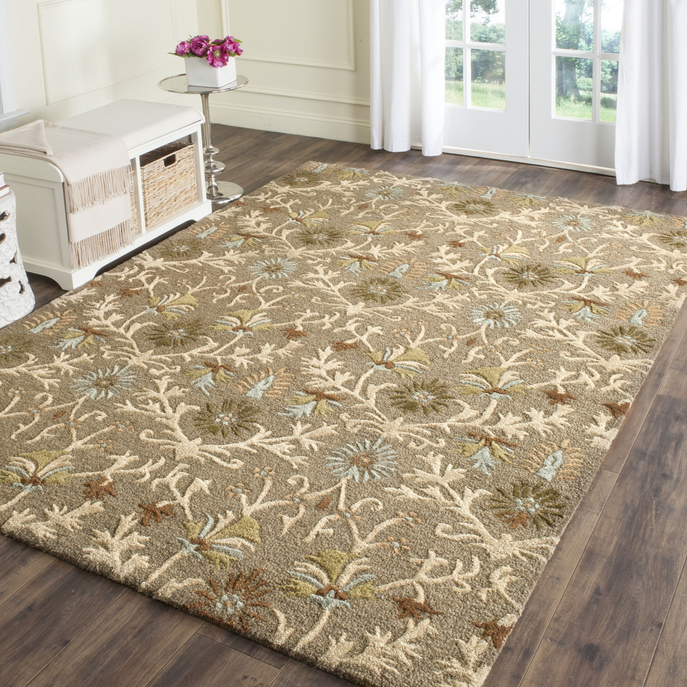 Parker Lane Hand-Tufted Wool Moss/Beige Area Rug Rug Size: Rectangle 10' x 14'