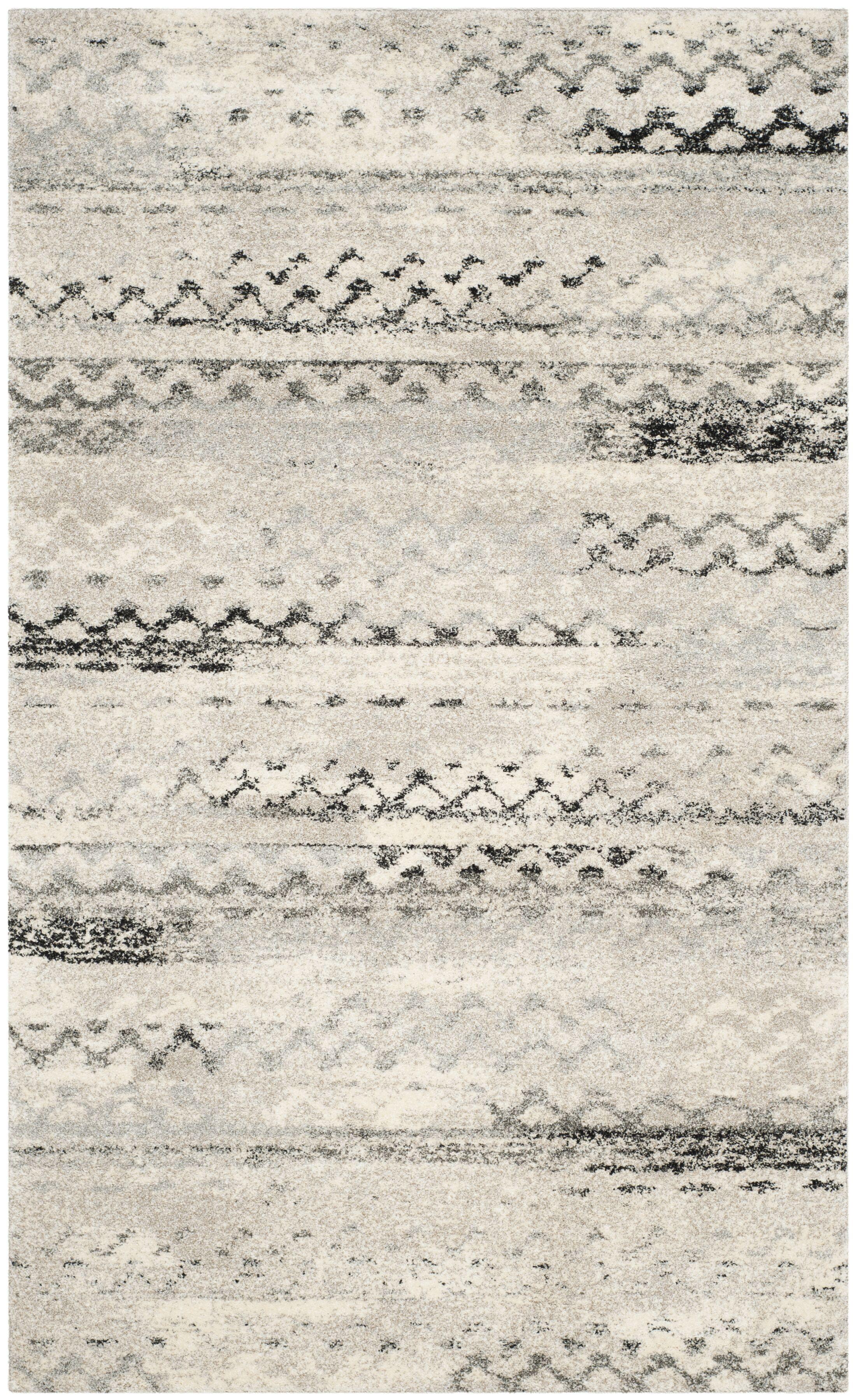 Sabang Cream / Gray Area Rug Rug Size: Rectangle 5' x 8'