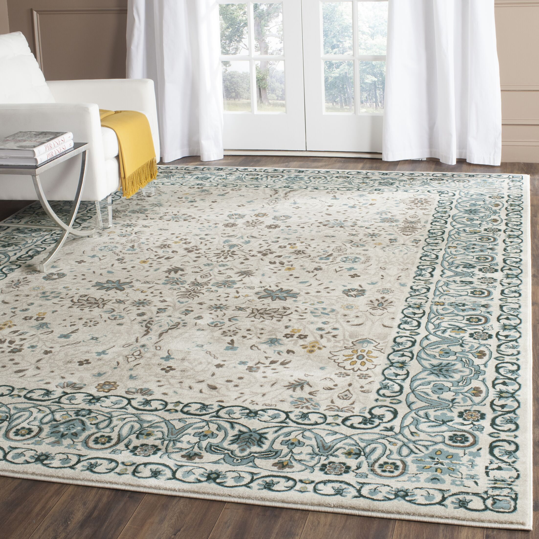 Zennia Blue Area Rug Size: Rectangle 4' x 6'