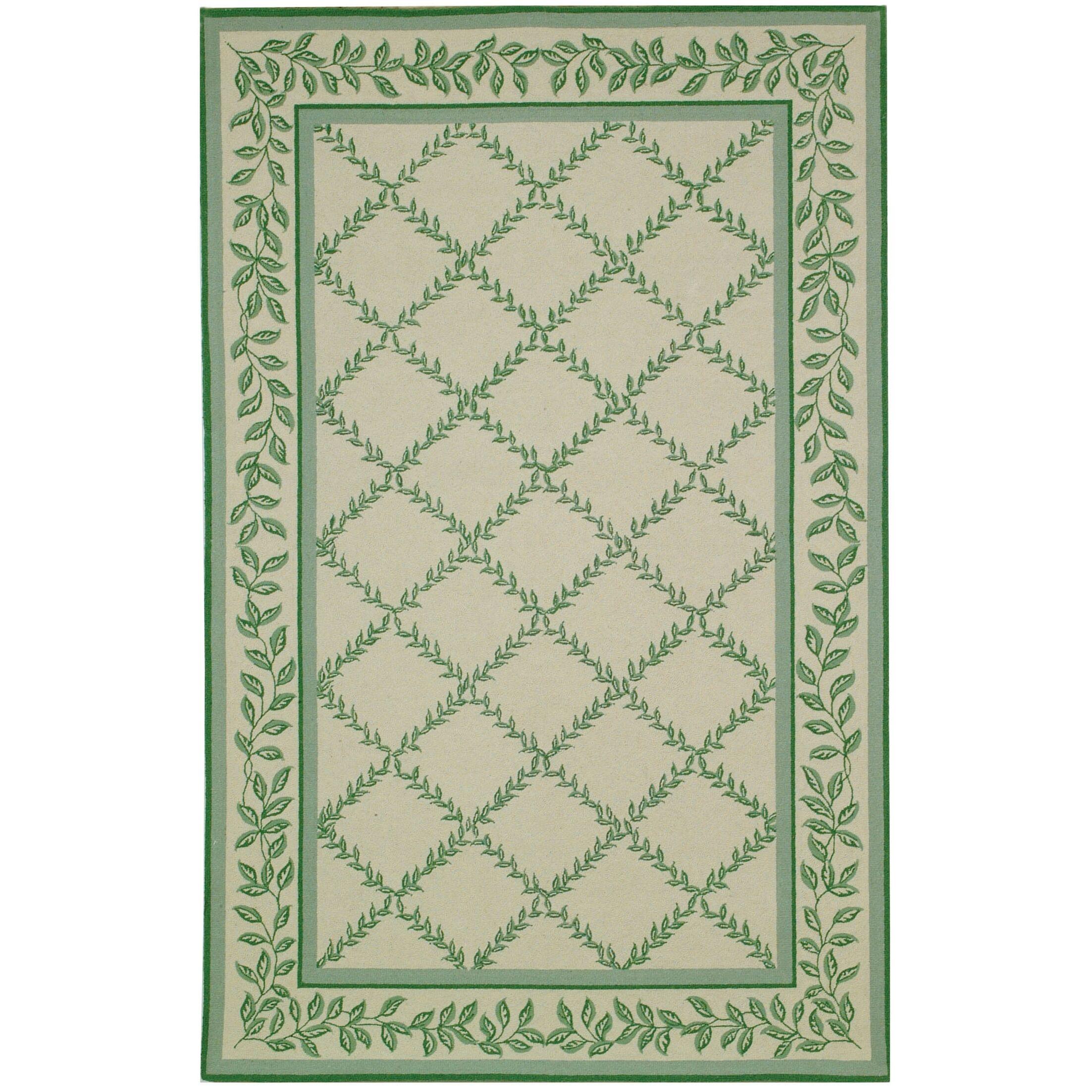 Kinchen Ivory & Light Green Wilton Trellis Area Rug Rug Size: Rectangle 8'9