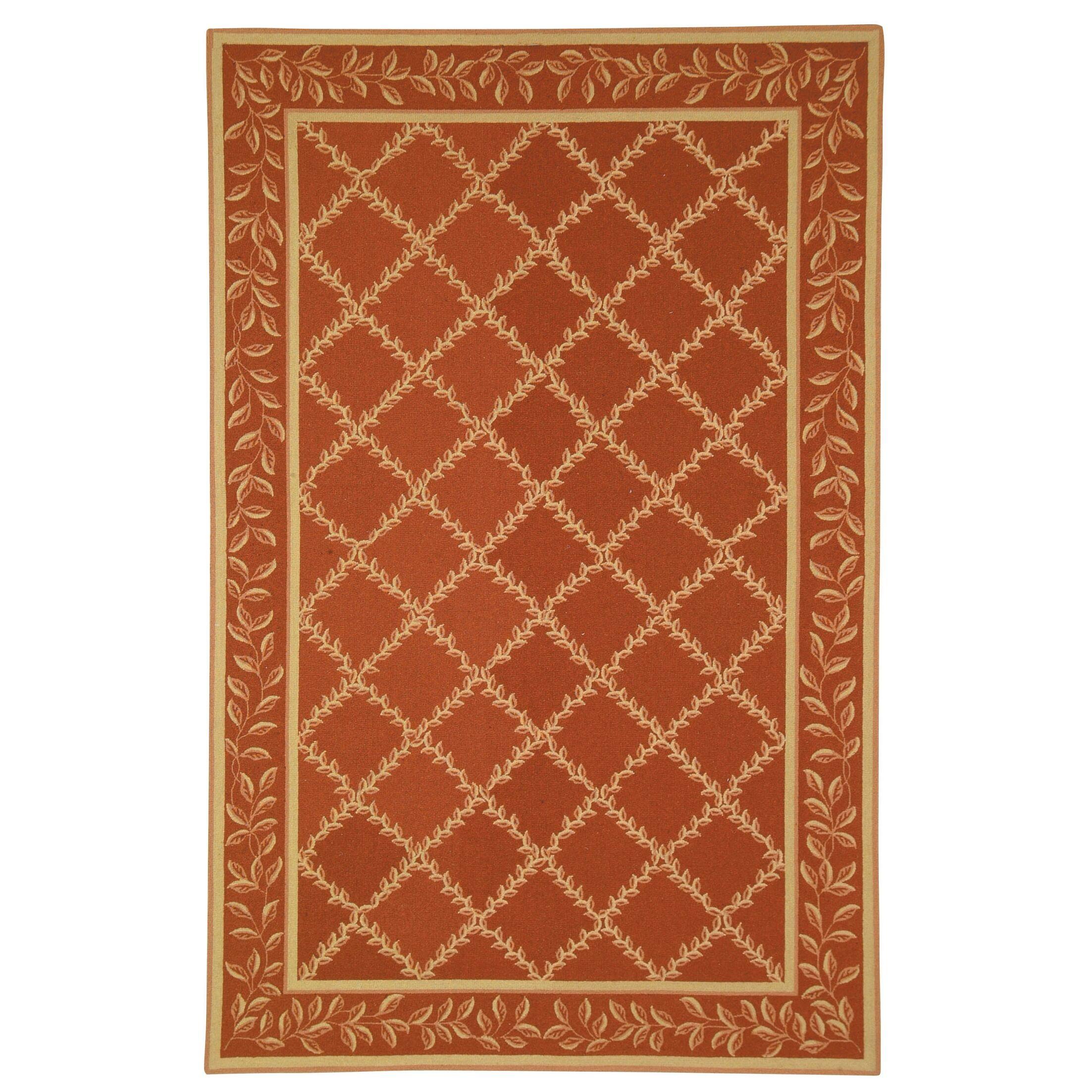 Kinchen Rust/Gold Wilton-Trellis Area Rug Rug Size: Rectangle 5'3