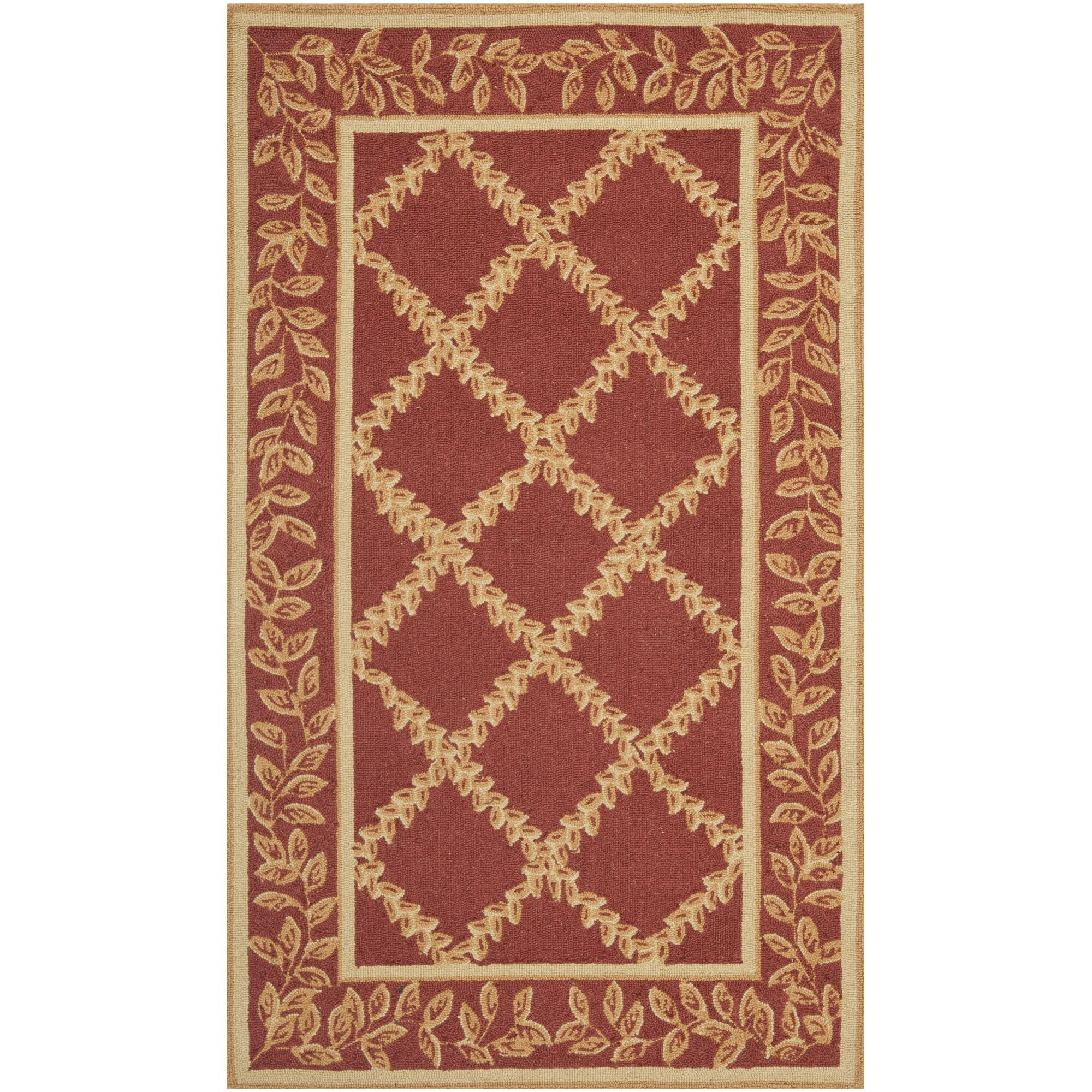 Kinchen Rust/Gold Wilton-Trellis Area Rug Rug Size: Rectangle 3'9