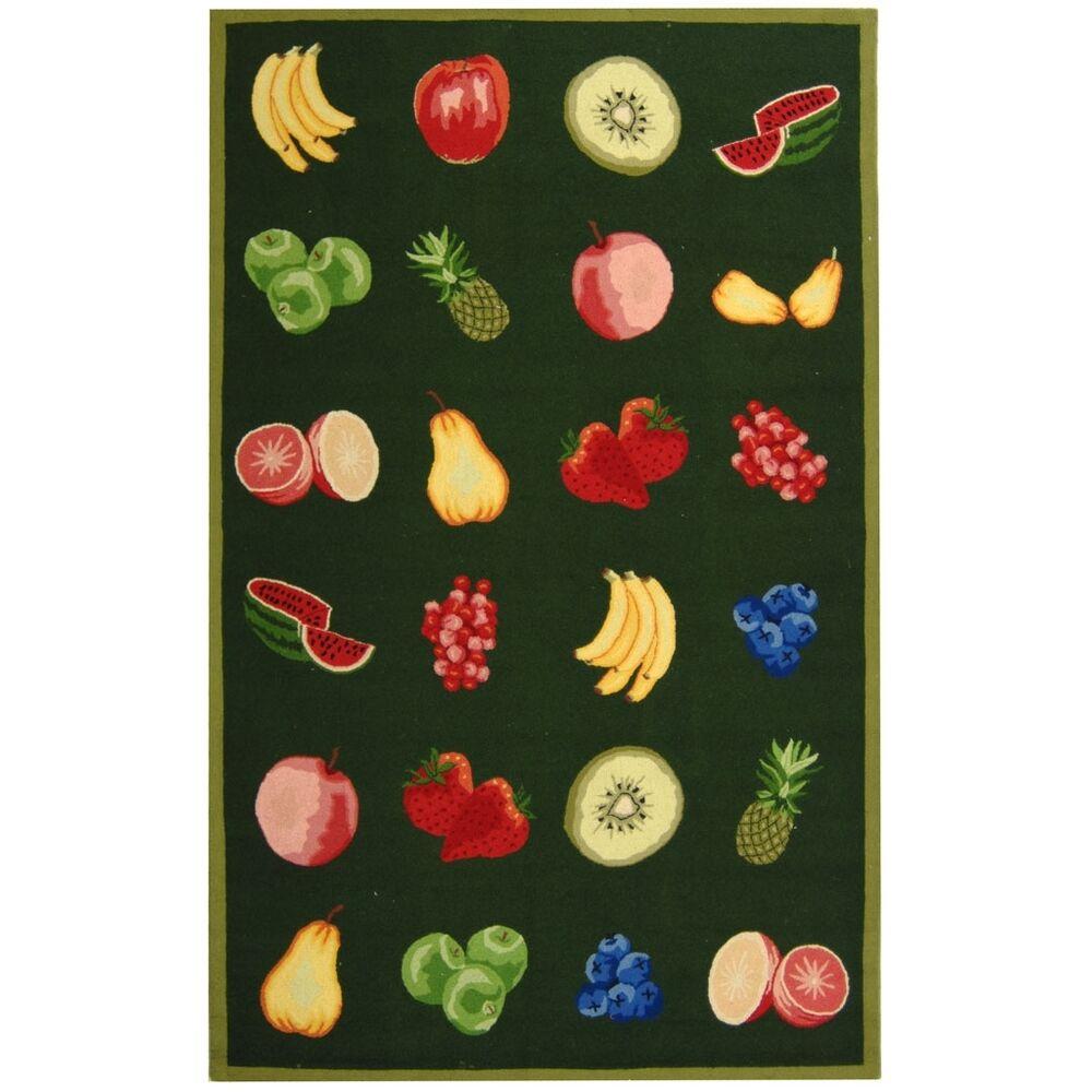 Kinchen Green Savoy Fruit Novelty Area Rug Rug Size: Rectangle 7'9