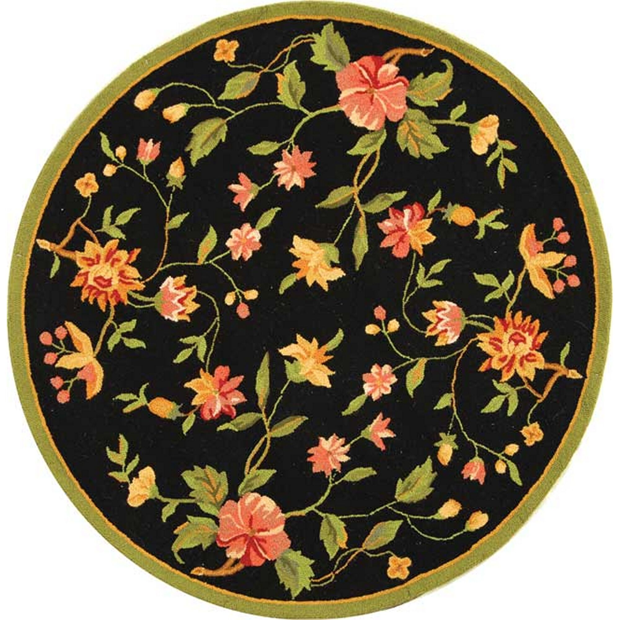 Kinchen Floral Area Rug Rug Size: Round 8'