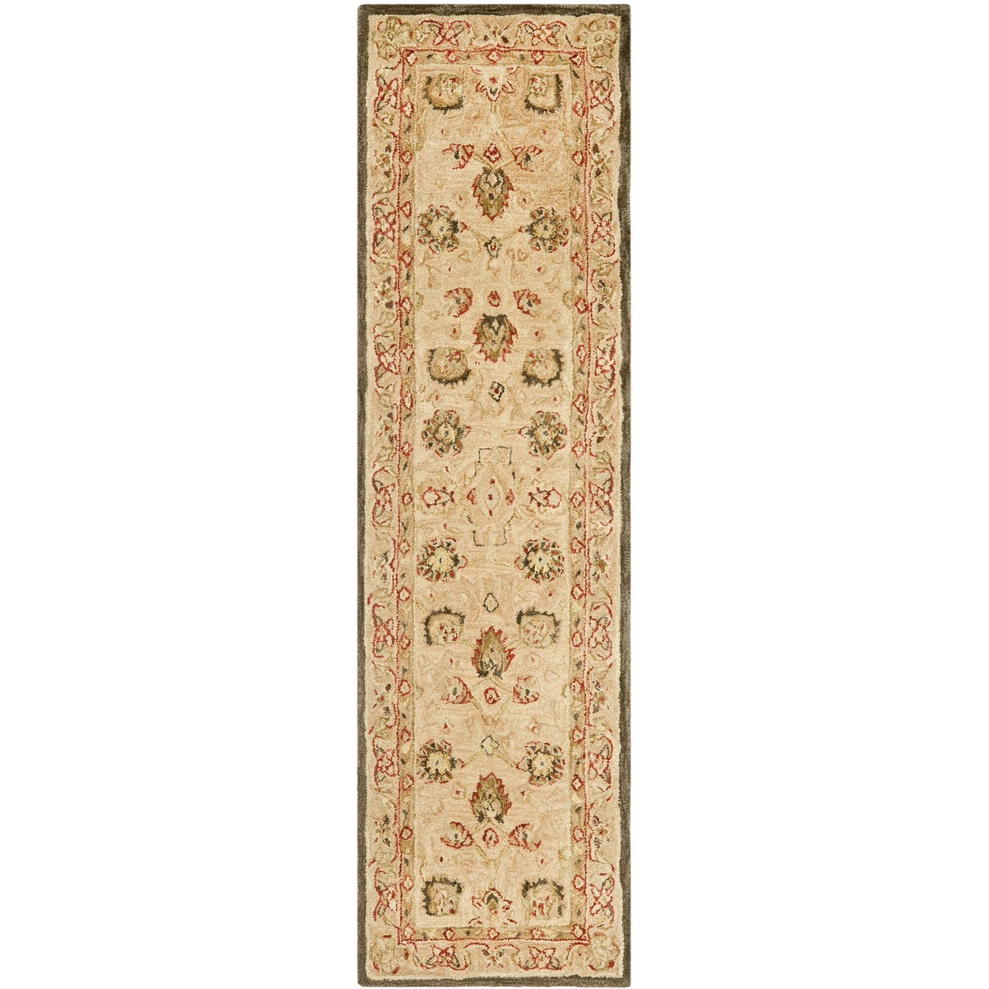 Anatolia Hand-Woven Wool Brown Area Rug Rug Size: Runner 2'3