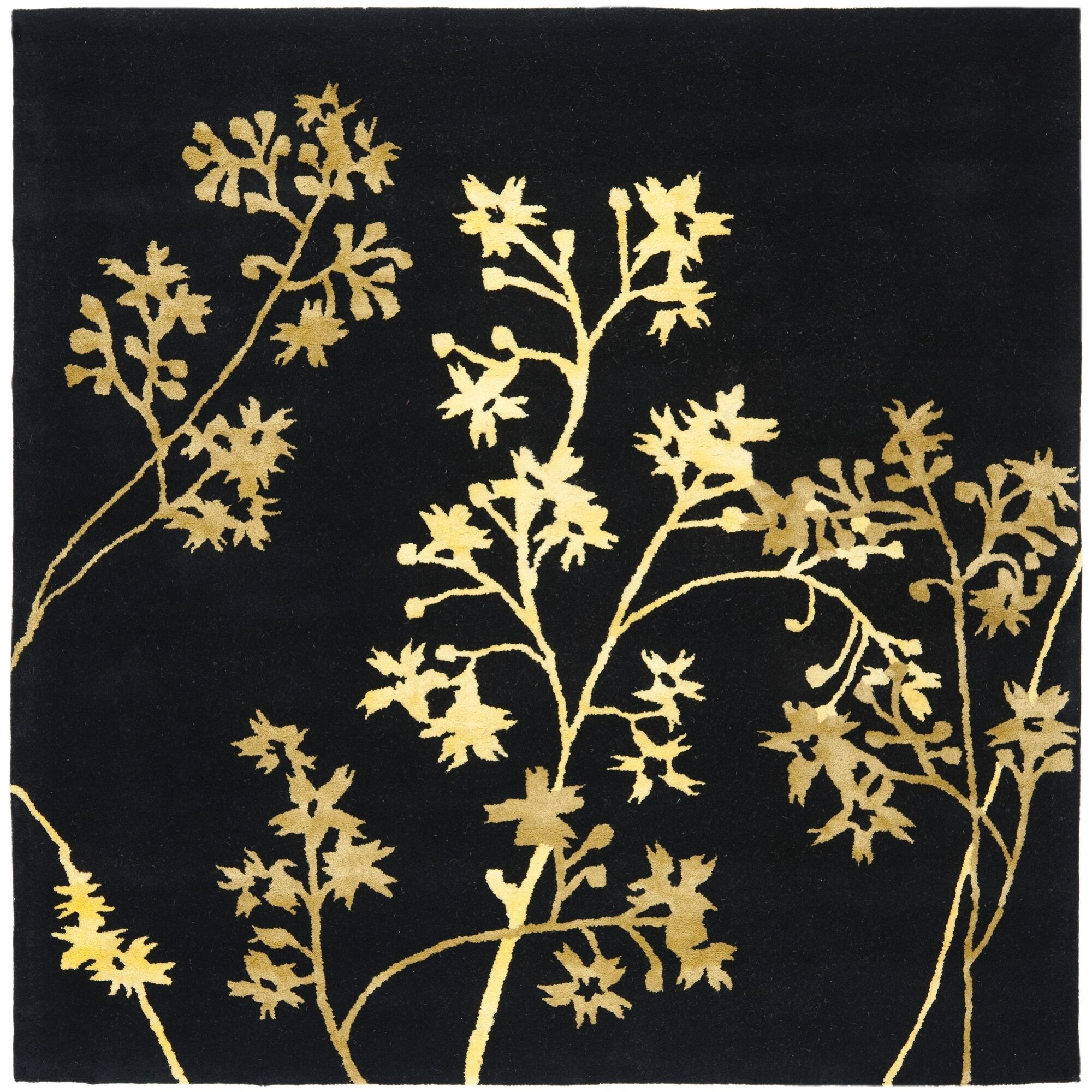Armstrong Black Area Rug Rug Size: Square 8'