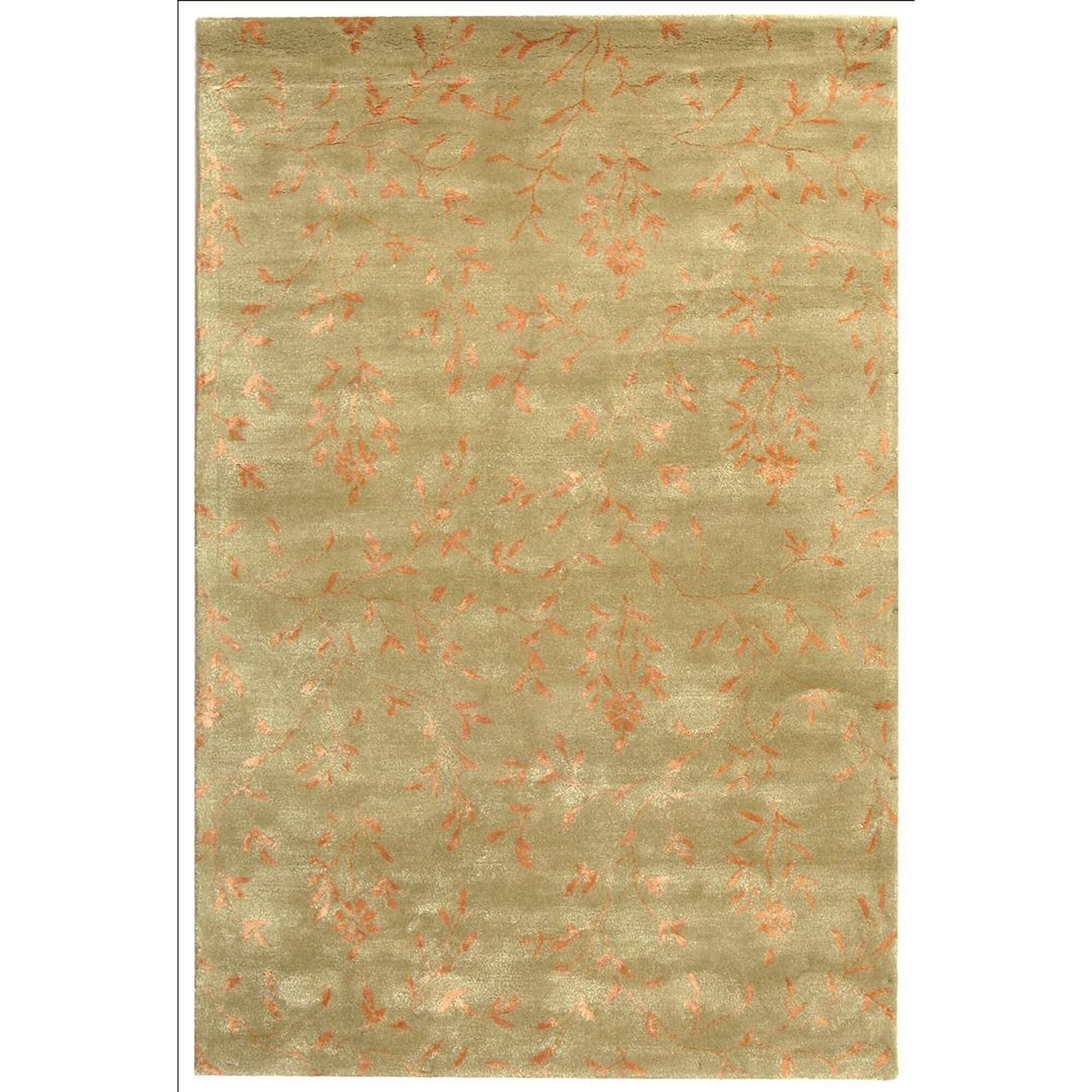 Blandinsville Hand-Tufted Sage/Rust Area Rug Rug Size: Rectangle 7'6