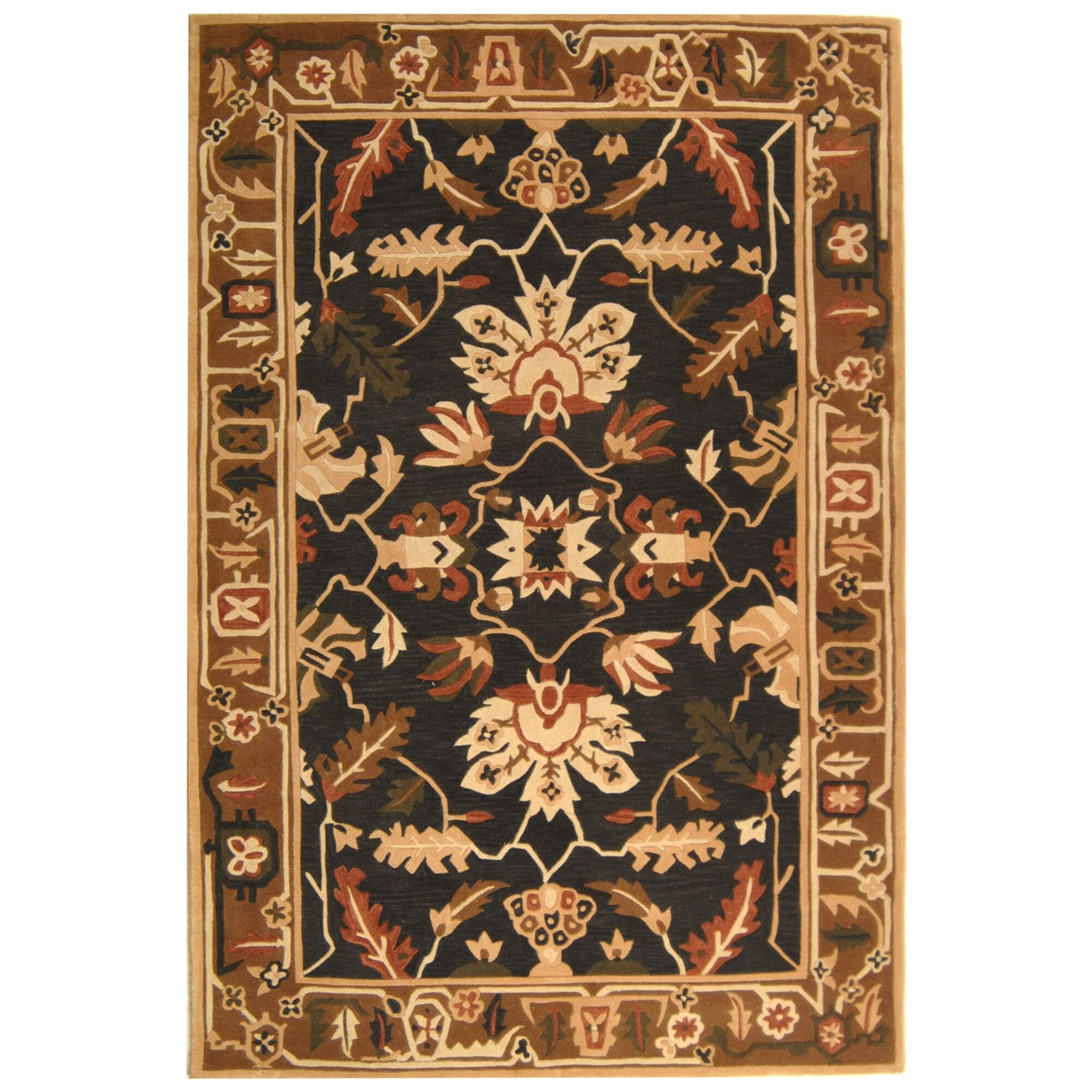 Rodeo Drive Graphite/Camel Area Rug Rug Size: Rectangle 5' x 8'