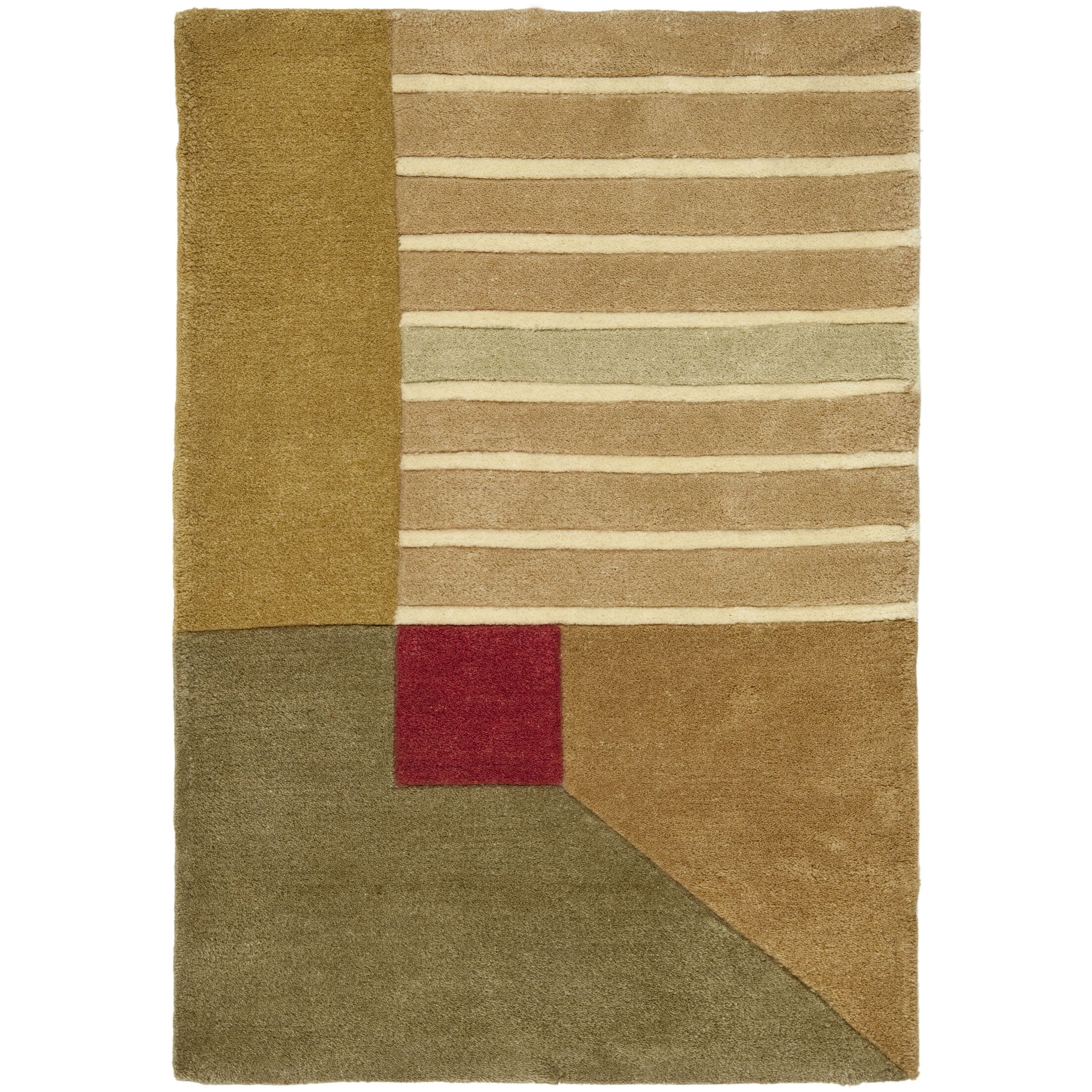 Rodeo Drive Trio Beige/Gold Area Rug Rug Size: Rectangle 5' x 8'