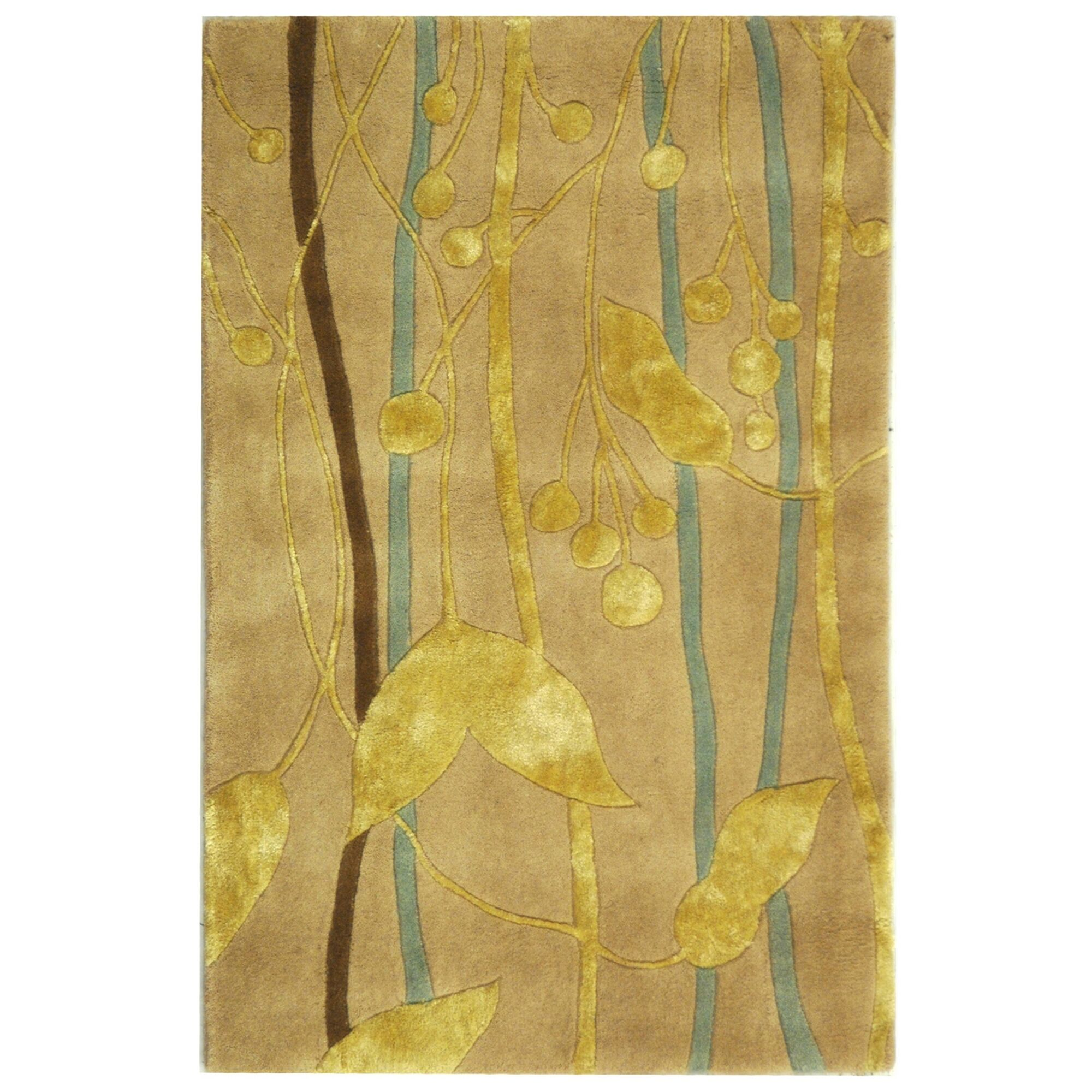 Rodeo Drive Ivory/Gold Area Rug Rug Size: Rectangle 7'6