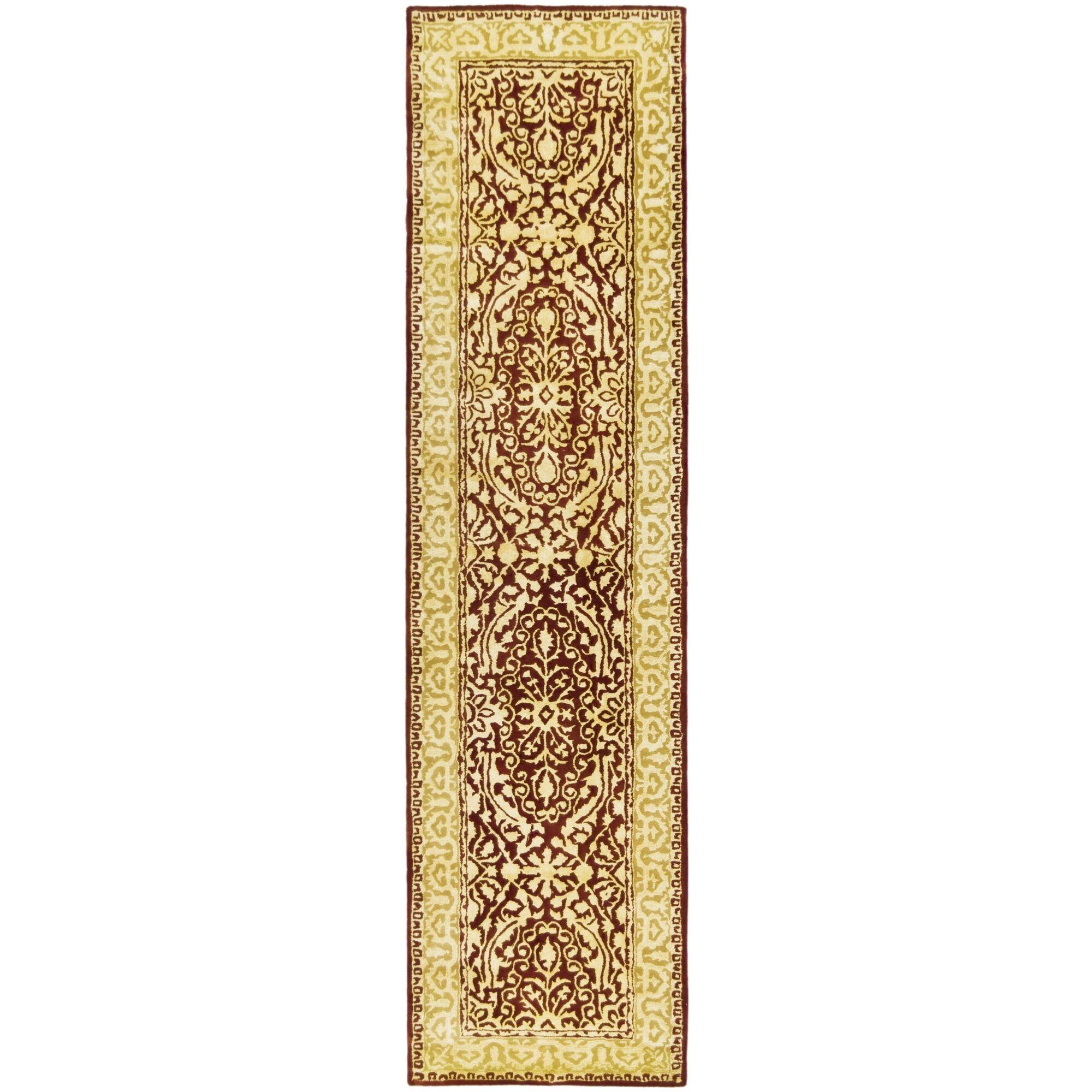 Sik Road Maroom/Ivory Area Rug Rug Size: Runner 2'6