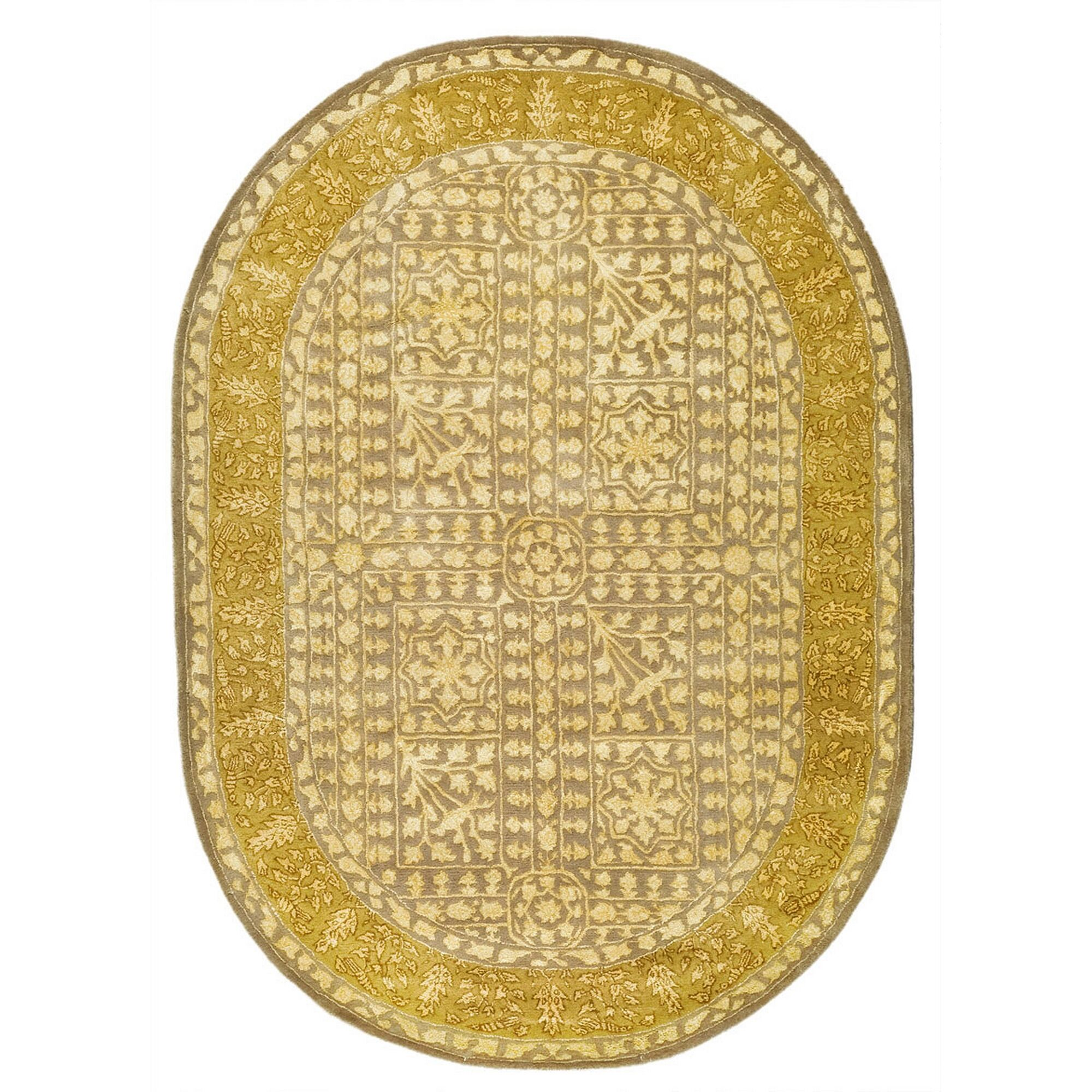 Silk Road Beige/Light Gold Area Rug Rug Size: Rectangle 3' x 5'