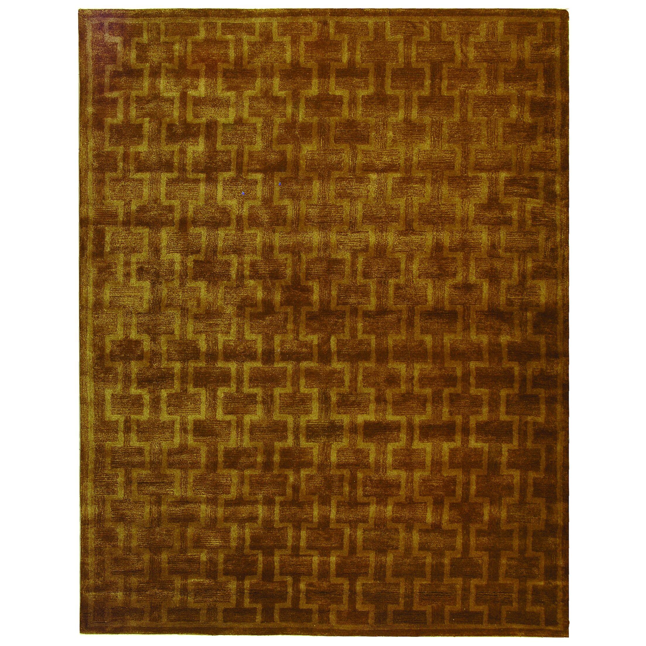 Beacon Gold/Brown Area Rug Rug Size: Rectangle 5' x 8'