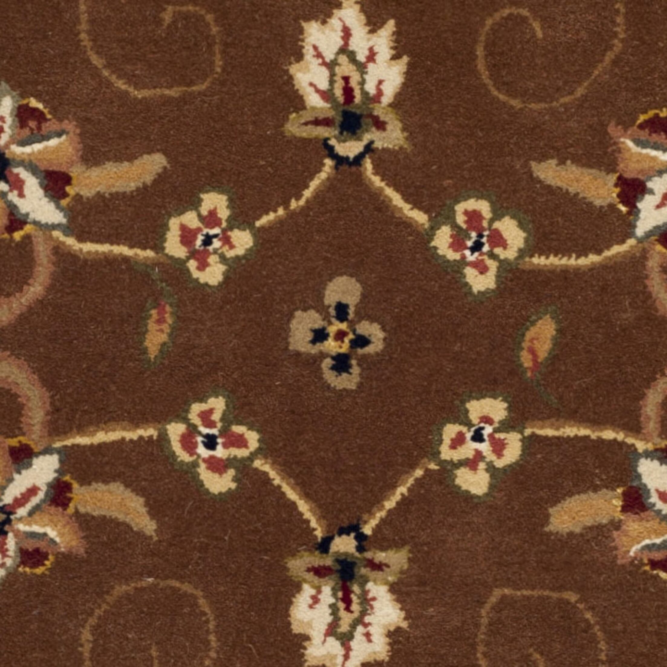 Traditions Tan/Ivory Area Rug Rug Size: Round 8'