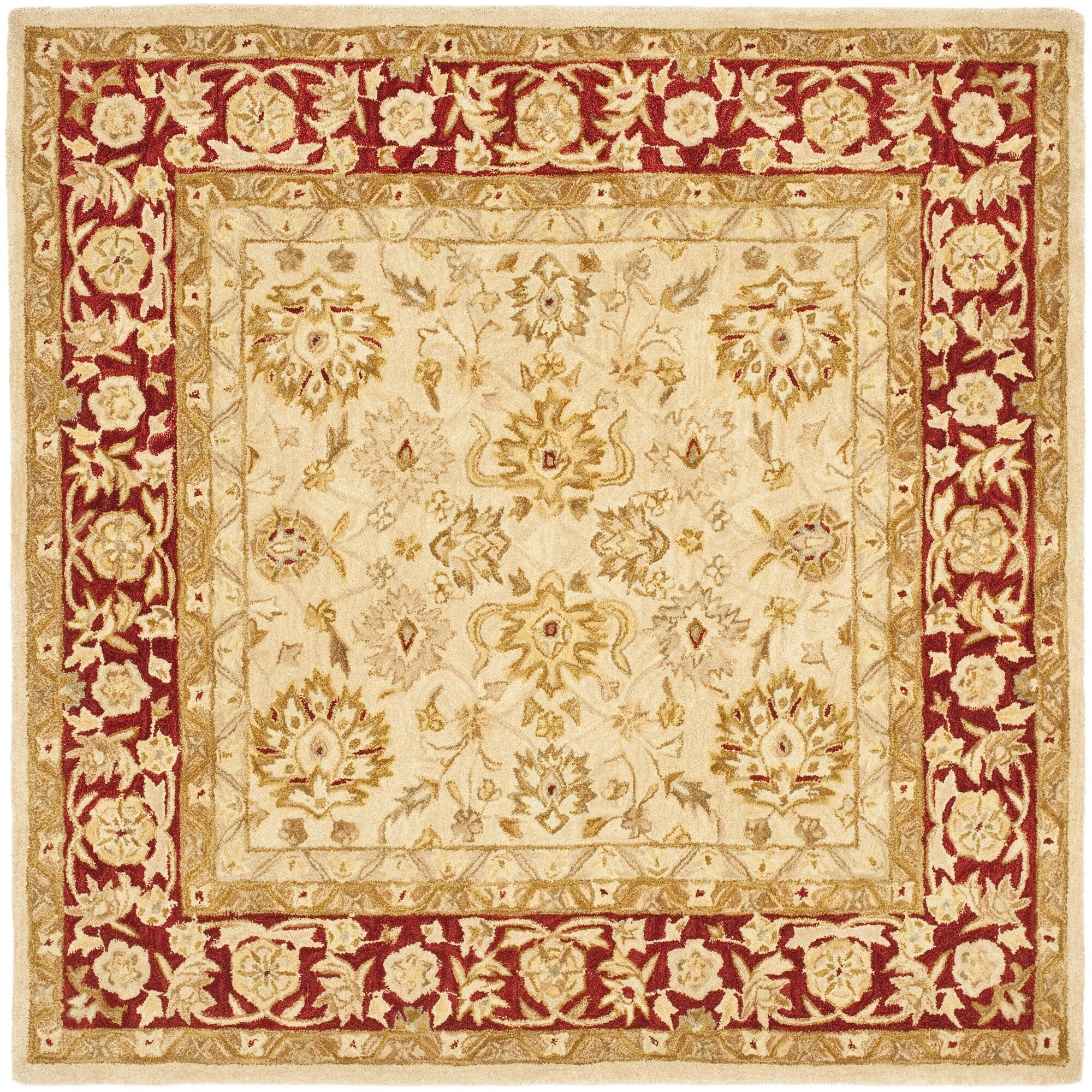 Pritchard Hand-Woven Wool Area Rug Rug Size: Square 6'