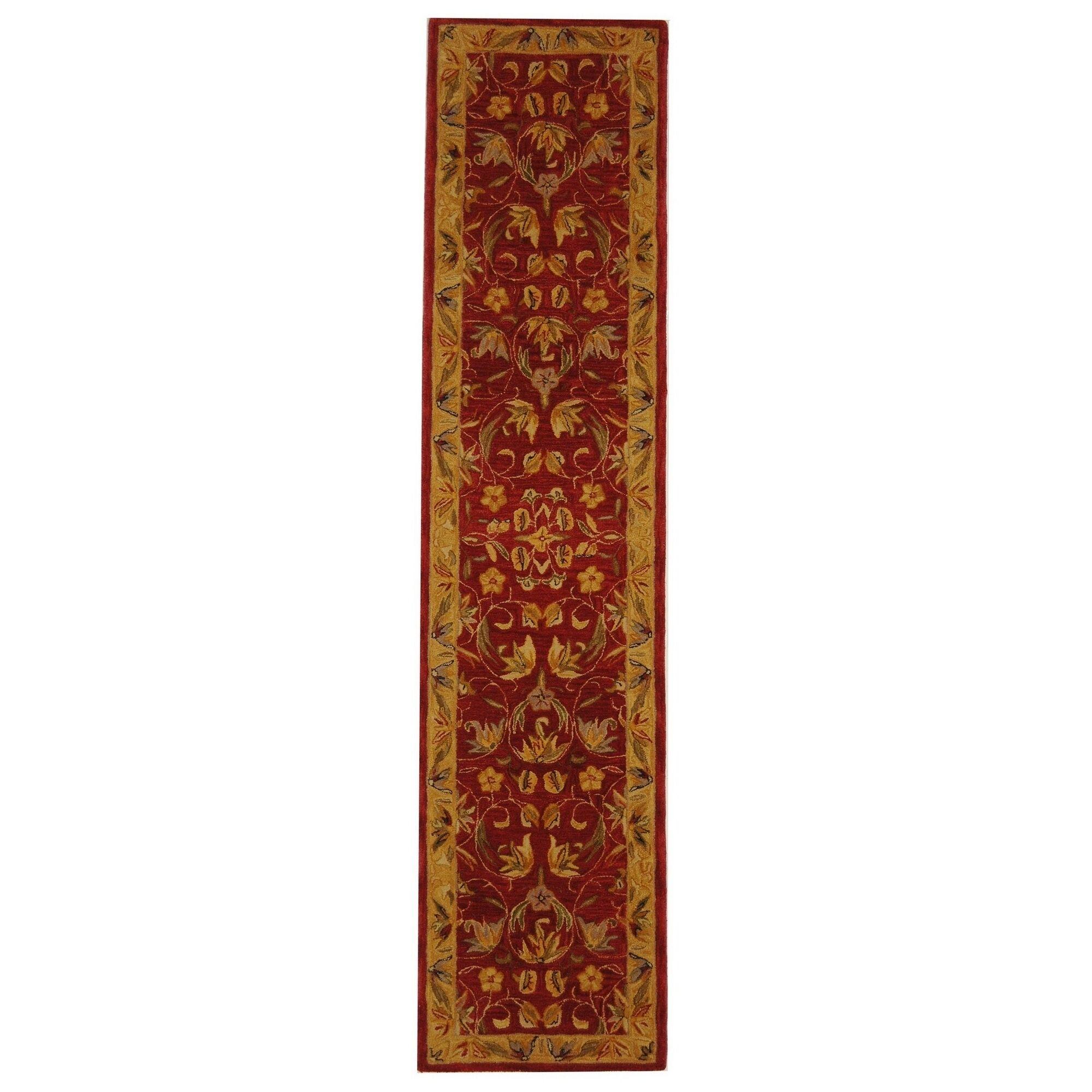 Anatolia Burgundy/Gold Area Rug Rug Size: Runner 2'3