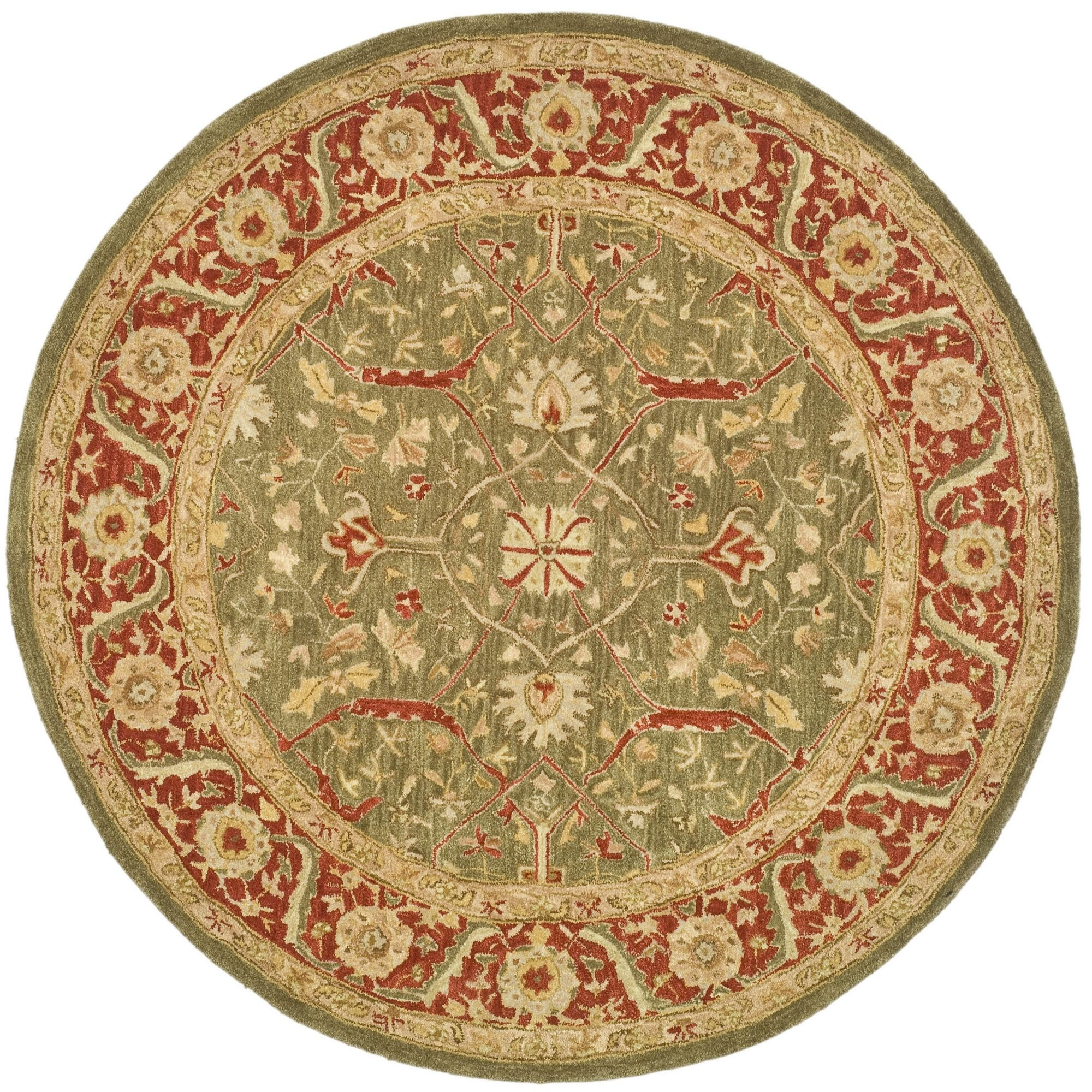 Pritchard Persimmon Area Rug Rug Size: Round 4'