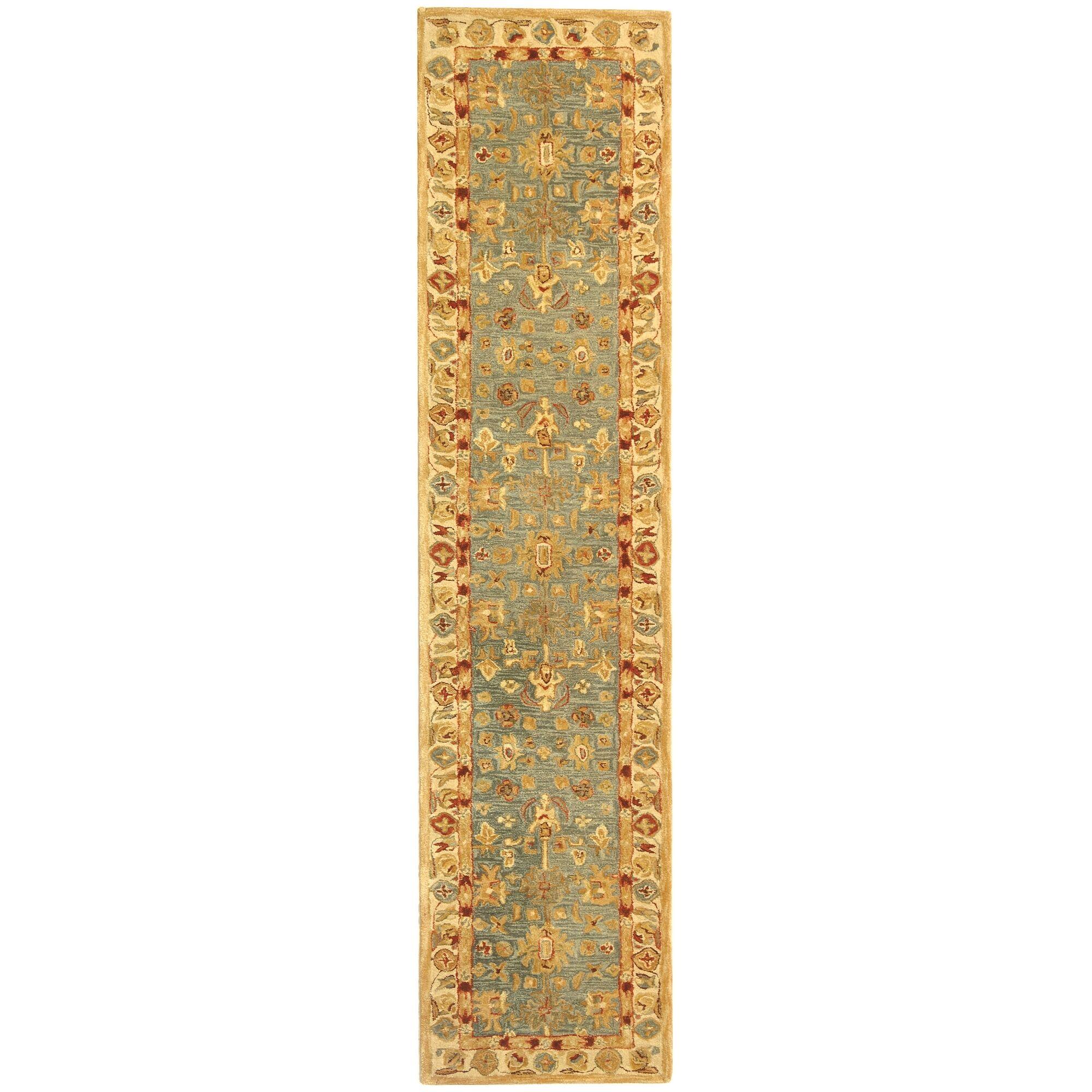 Anatolia Oriental Blue/Ivory Area Rug Rug Size: Runner 2'3