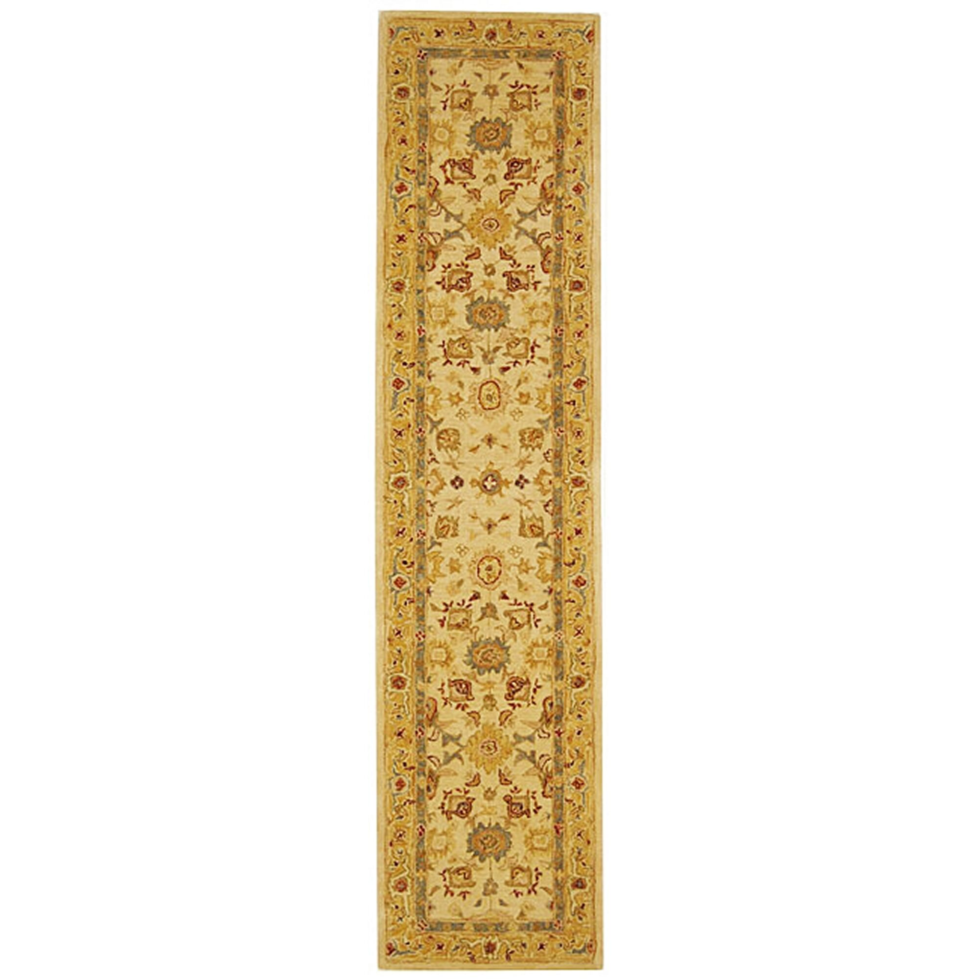 Pritchard Hand-Woven Wool Ivory/Gold Area Rug Rug Size: Runner 2'3
