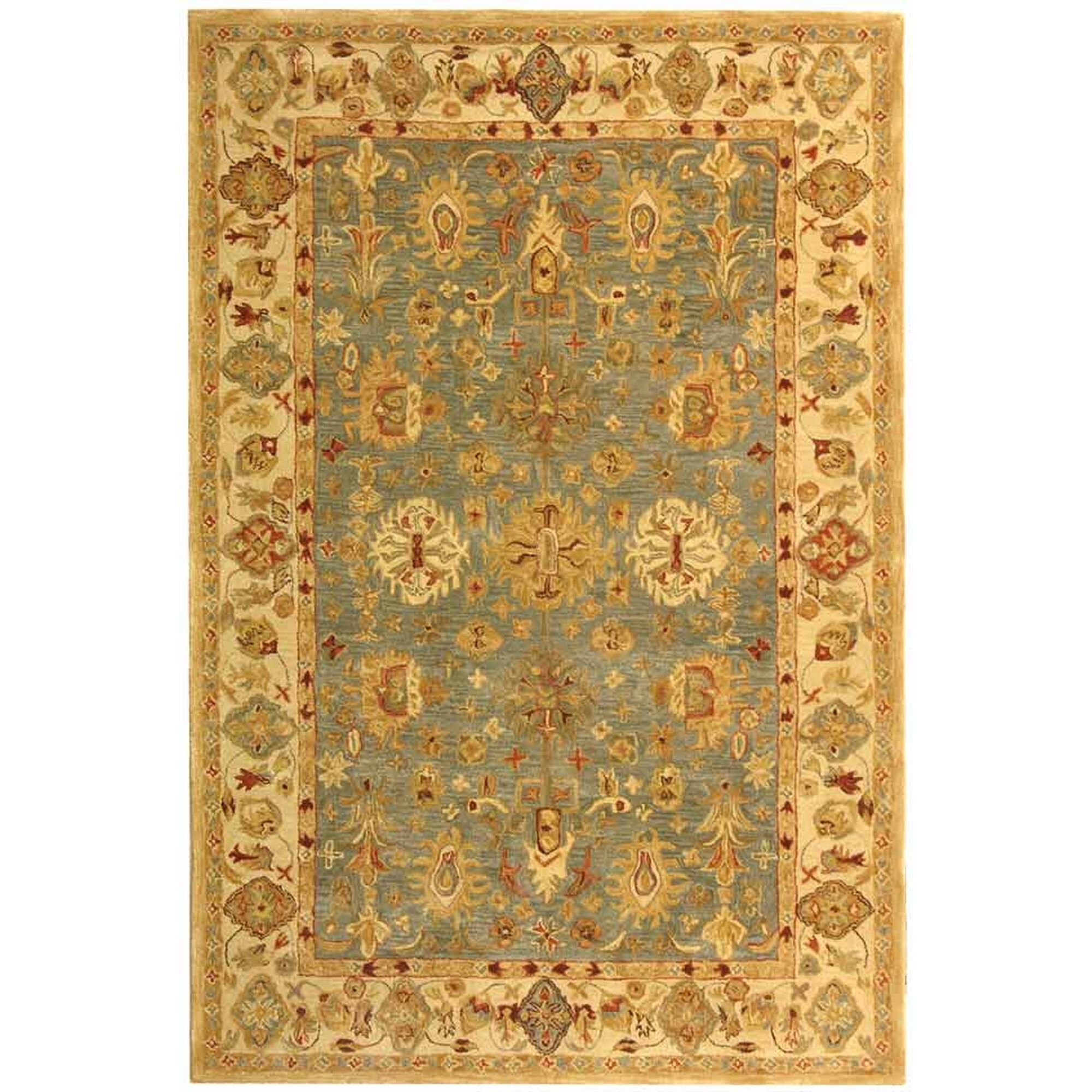 Anatolia Oriental Blue/Ivory Area Rug Rug Size: Rectangle 9'6