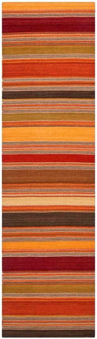 Striped Kilim Gold Rug Rug Size: Rectangle 4' x 6'