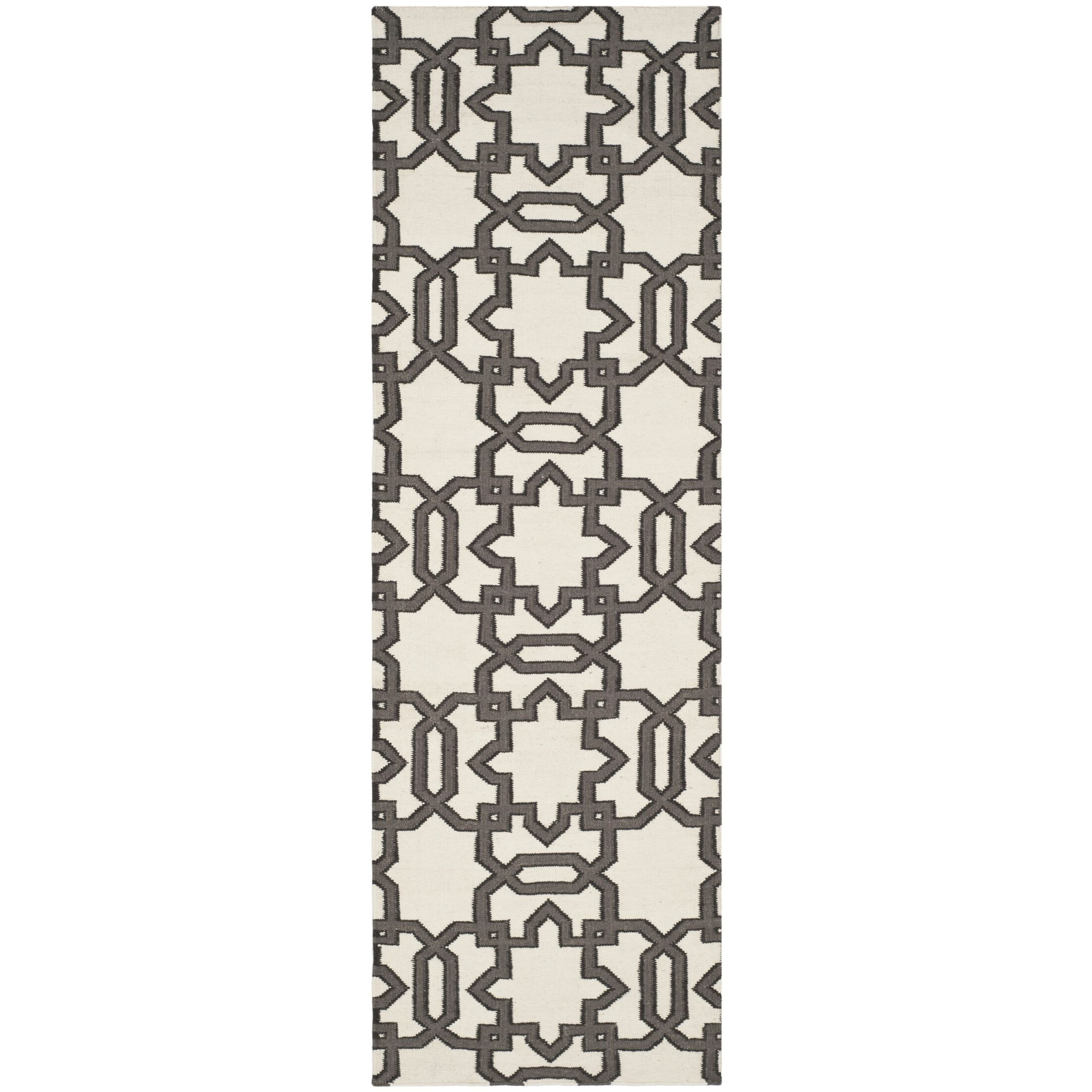 Kata Hand-Woven Wool Ivory/Gray Area Rug Rug Size: Rectangle 6' x 9'