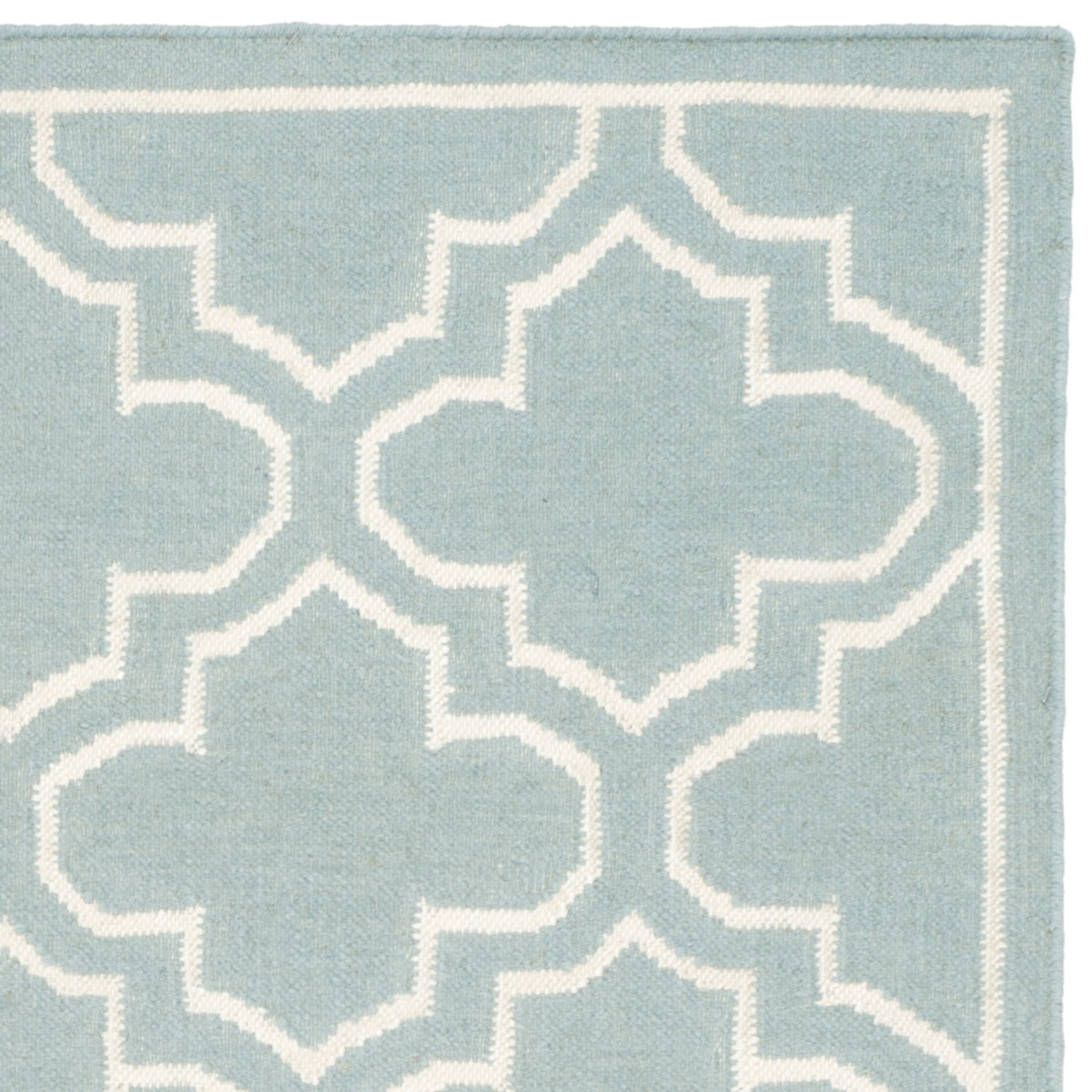 Dhurries Blue/Ivory Area Rug Rug Size: Rectangle 5' x 8'