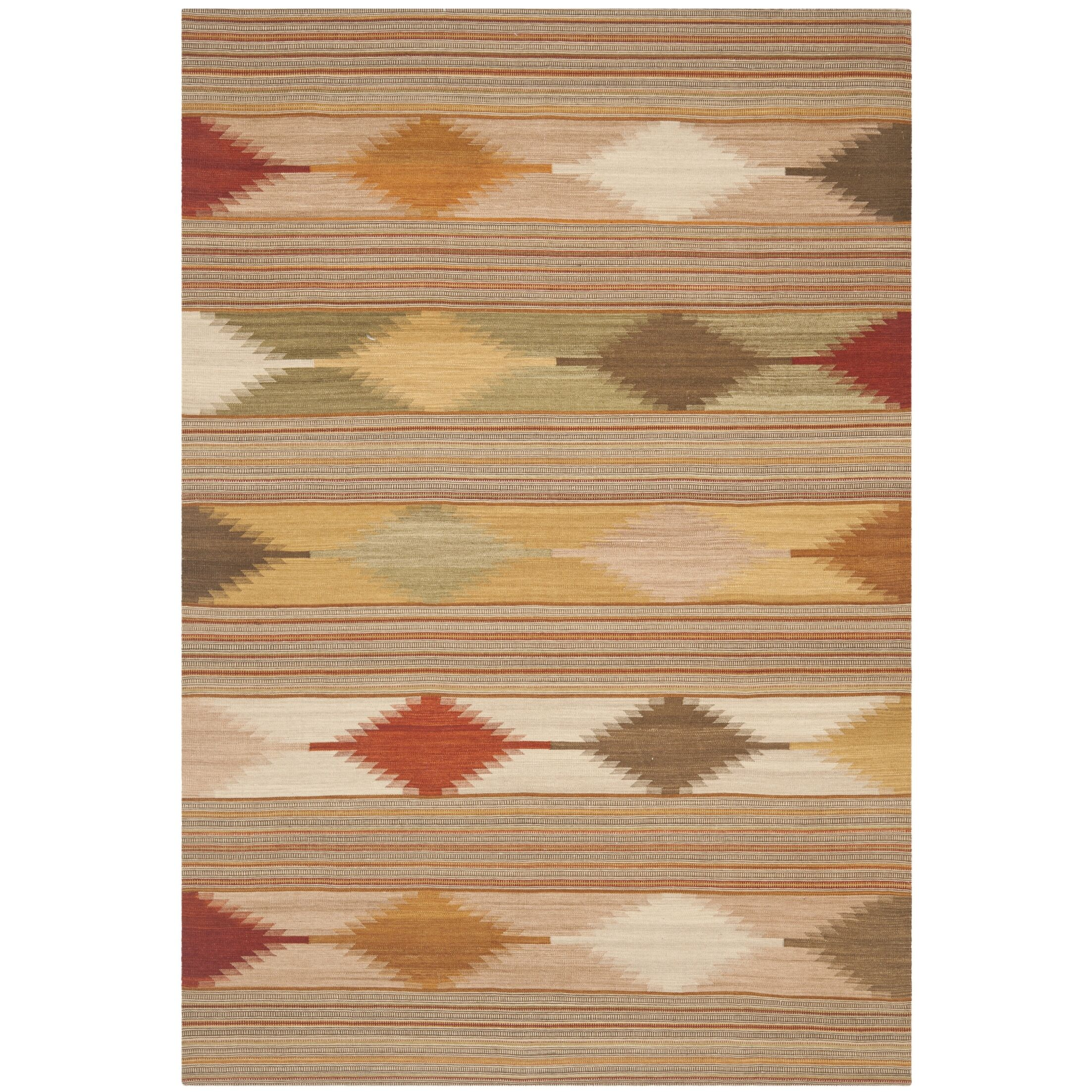 Vacaville Brown & Tan Area Rug Rug Size: Rectangle 6' x 9'