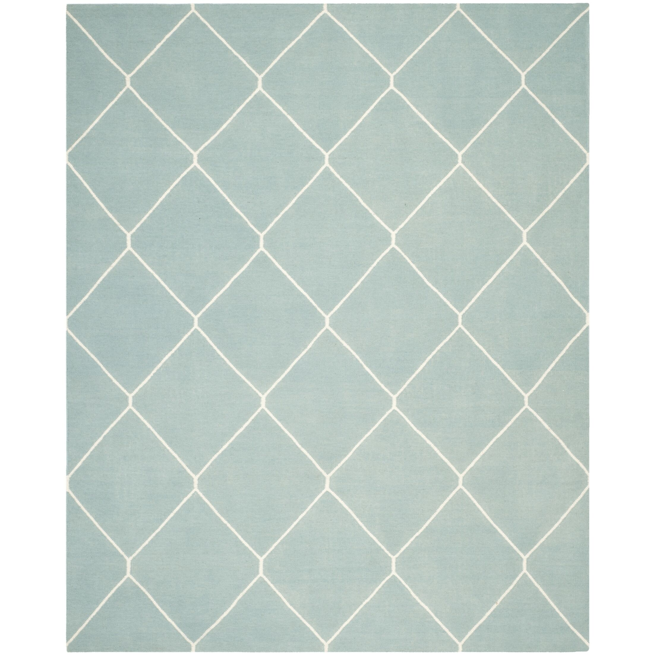 Dhurries Light Blue/Ivory Area Rug Rug Size: Rectangle 8' x 10'