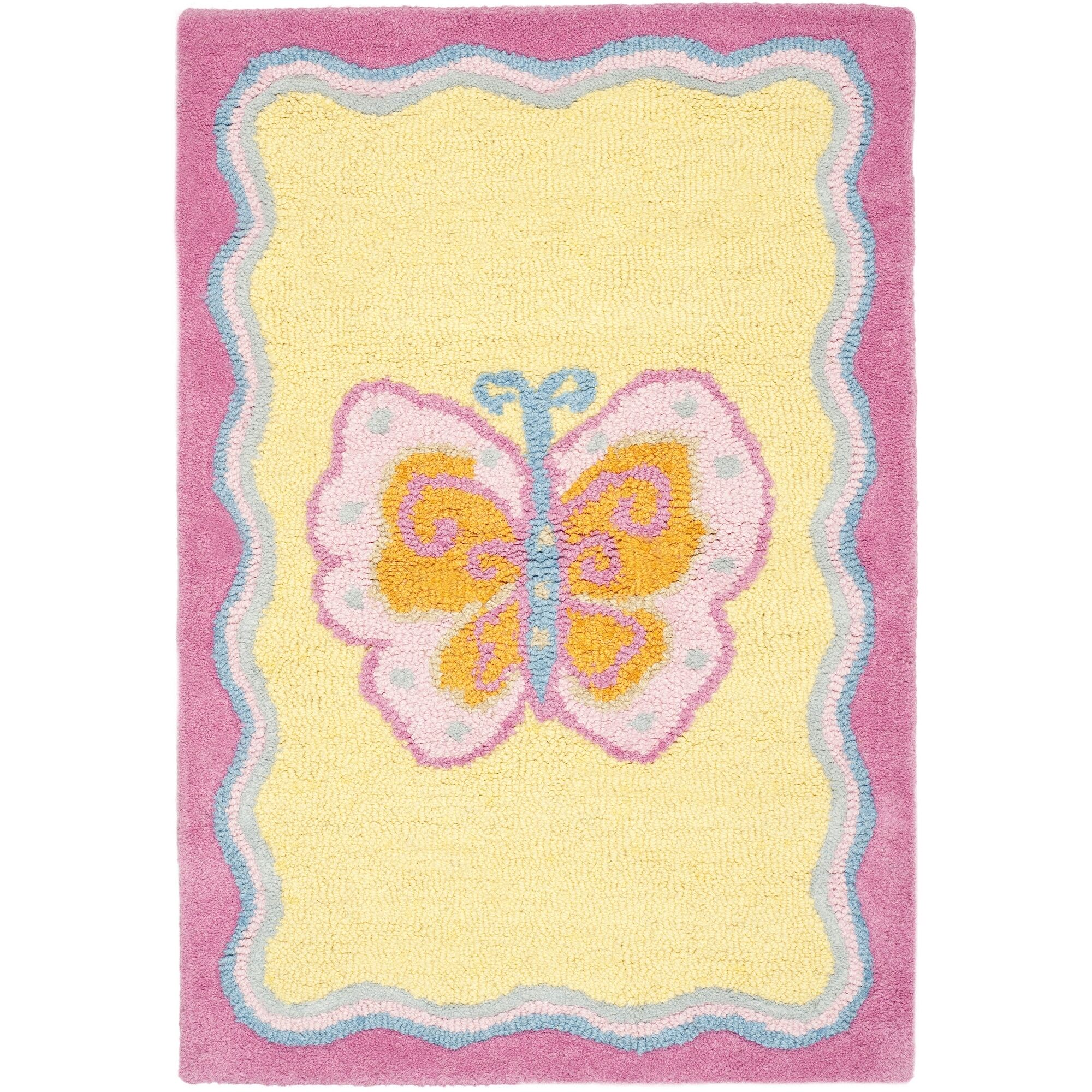 Claro Butterfly Center Area Rug Rug Size: Rectangle 3' x 5'