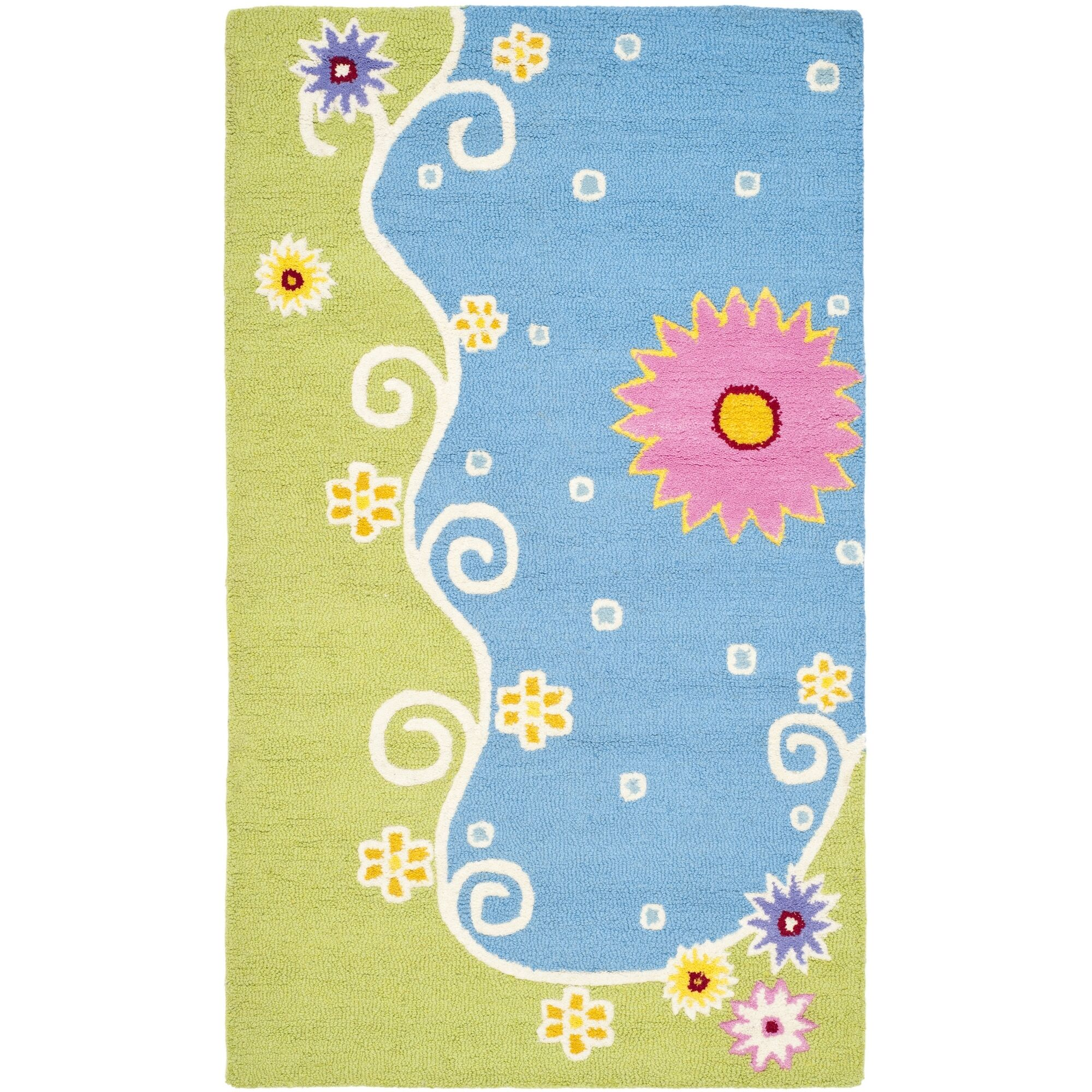 Claro Blue/Green Floral Area Rug Rug Size: Rectangle 4' x 6'