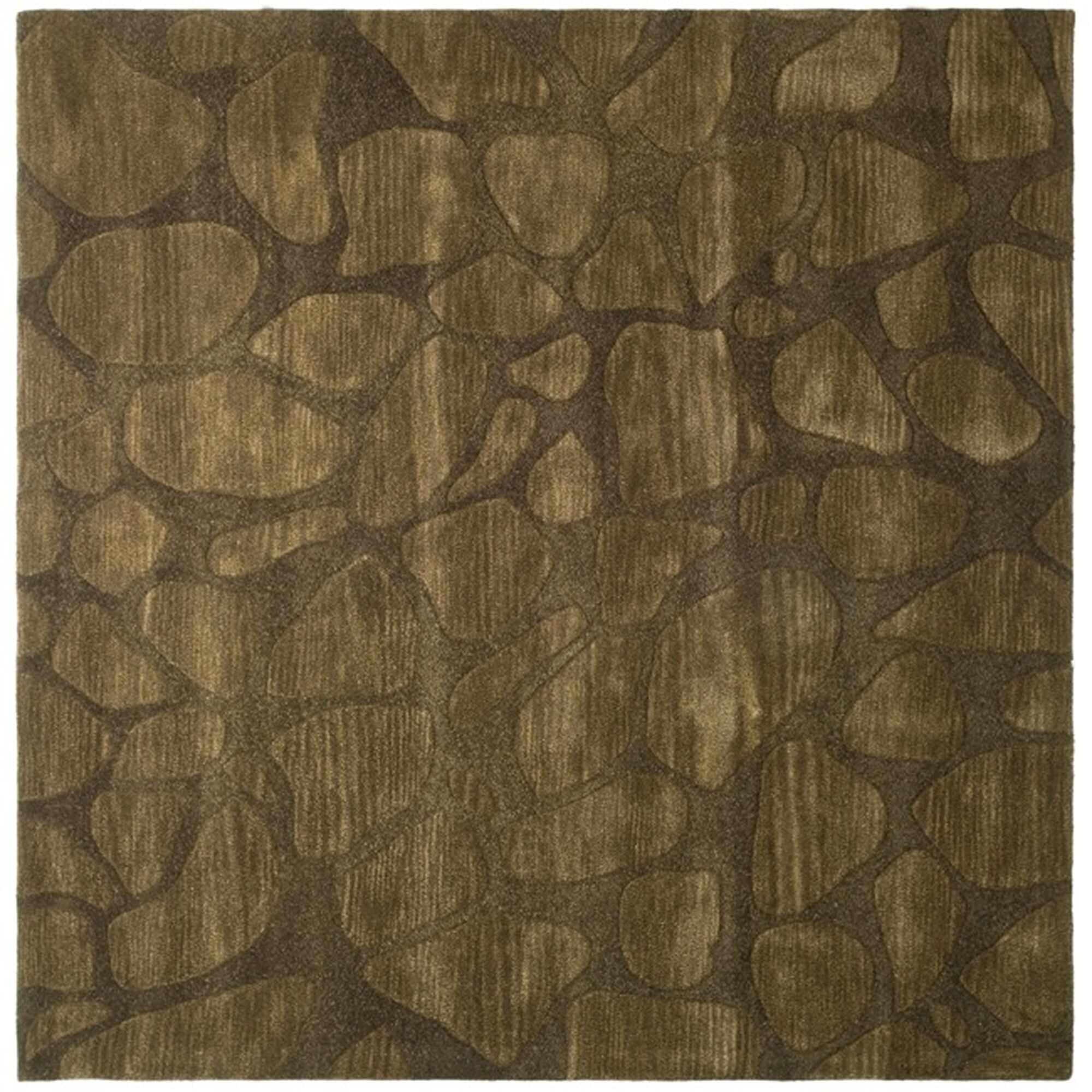 Boone Dark Brown Area Rug Rug Size: Square 6'