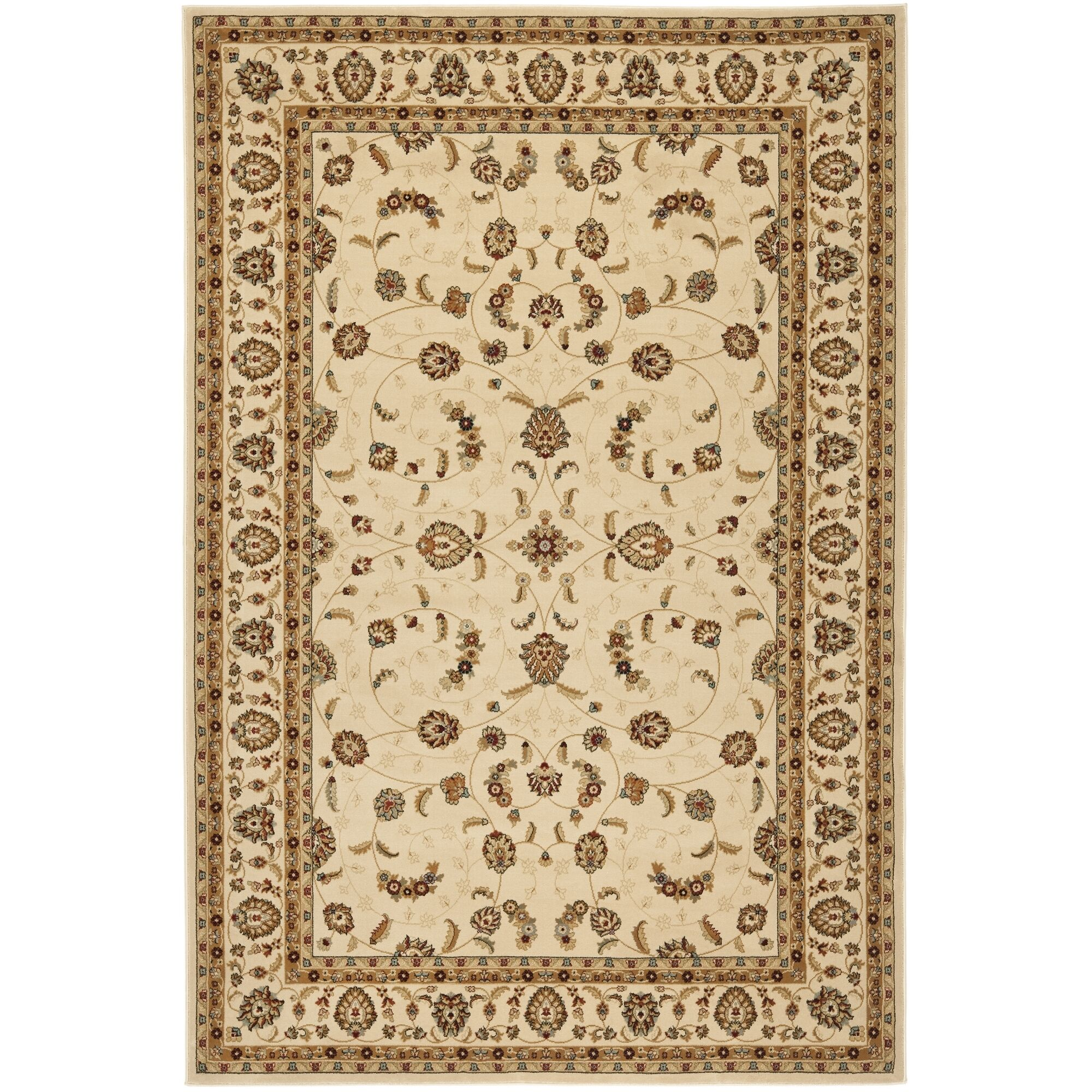 Majesty Creme Area Rug Rug Size: Rectangle 5'3