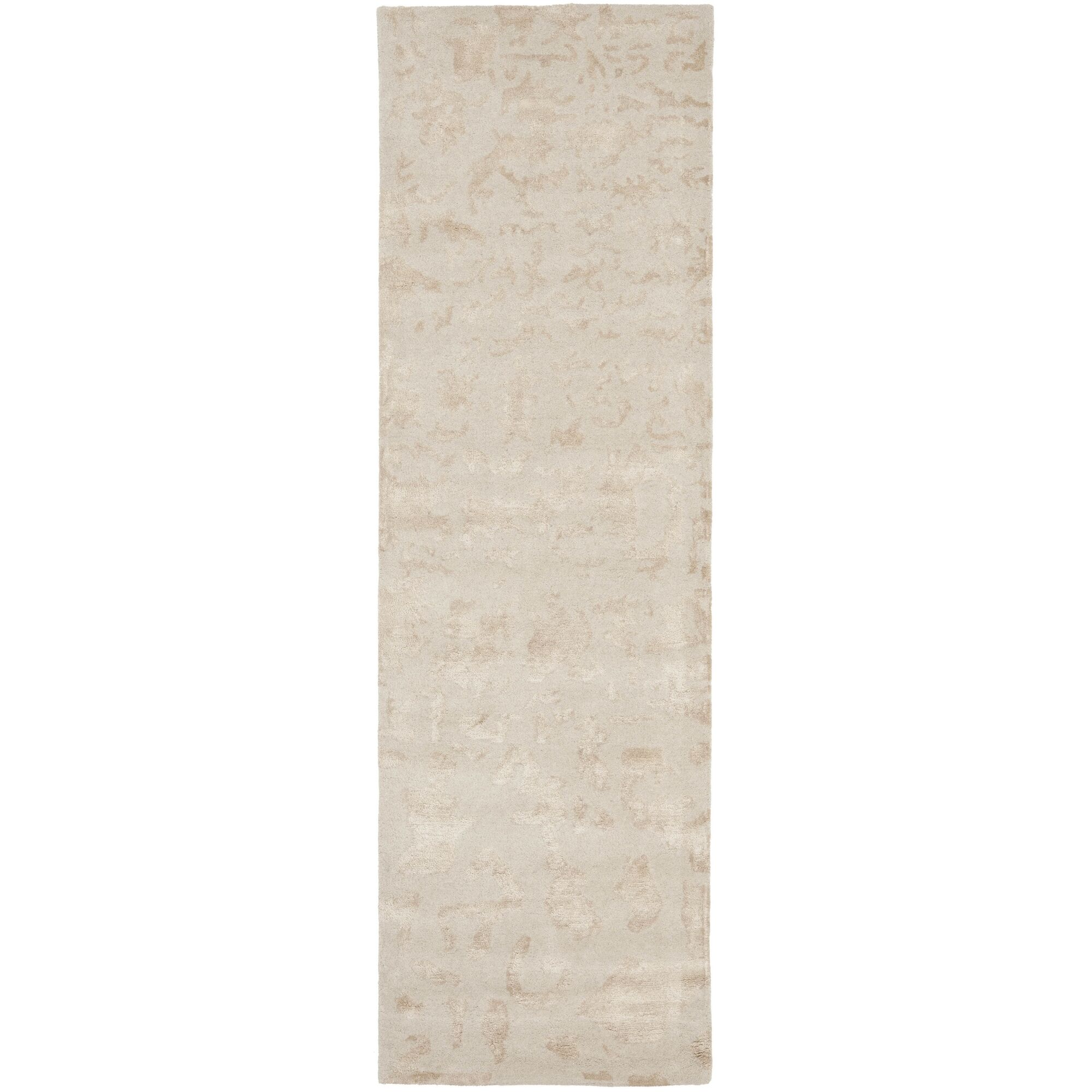 Beacon Hand-Woven Wool Ivory Area Rug Rug Size: Runner 2'6