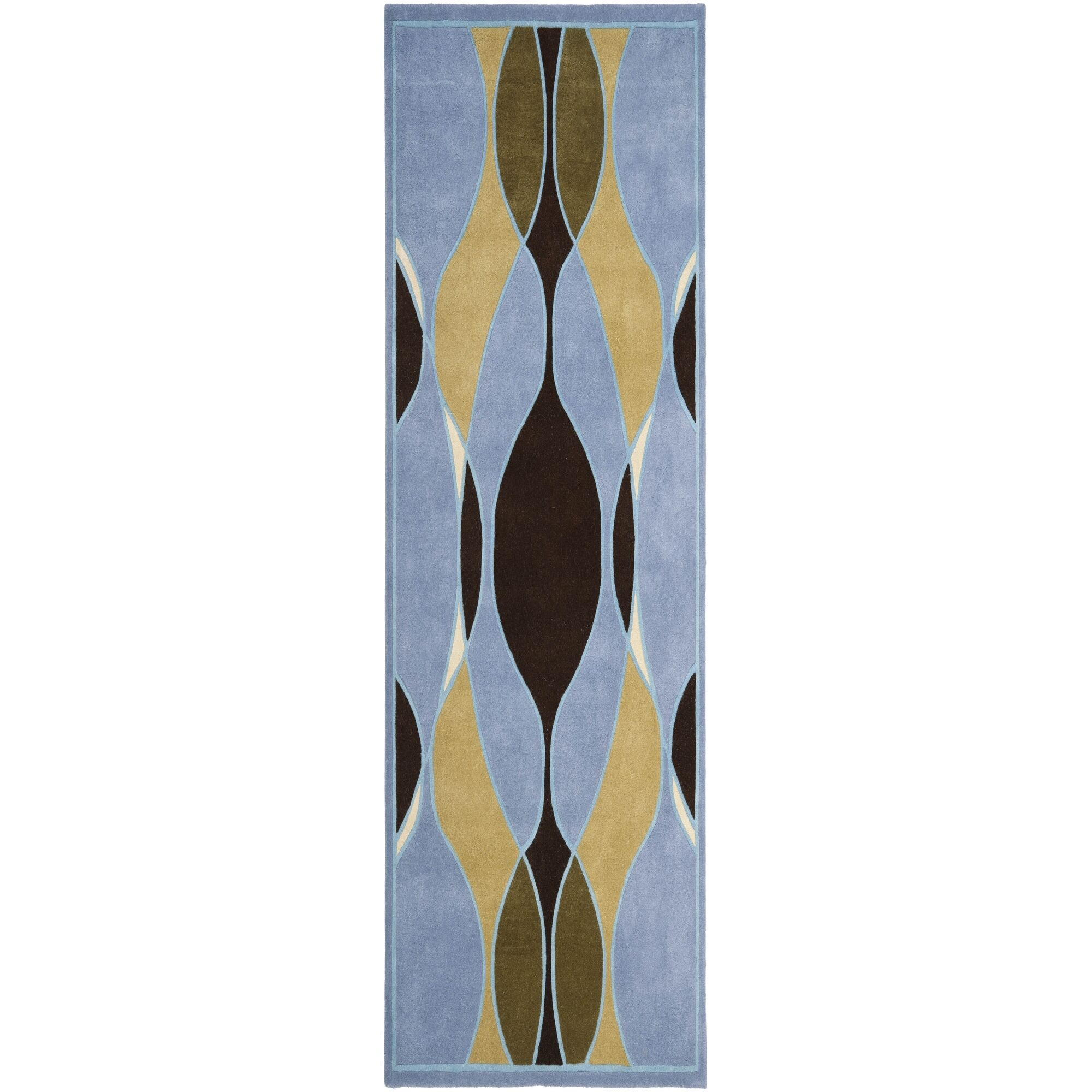 Lockwood Blue Swirl Area Rug Rug Size: Runner 2'6