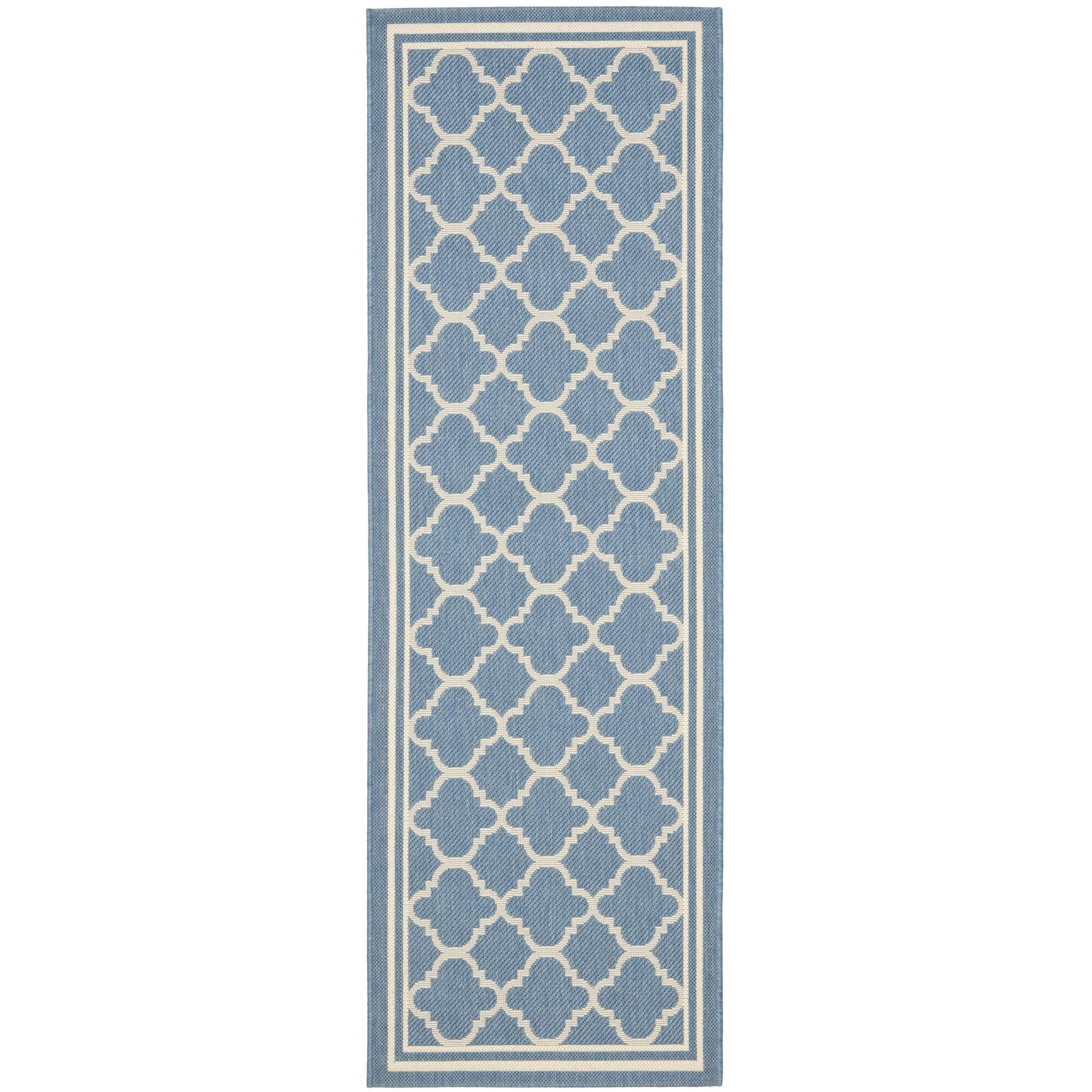 Bexton Blue Indoor/Outdoor Area Rug Rug Size: Runner 2'3