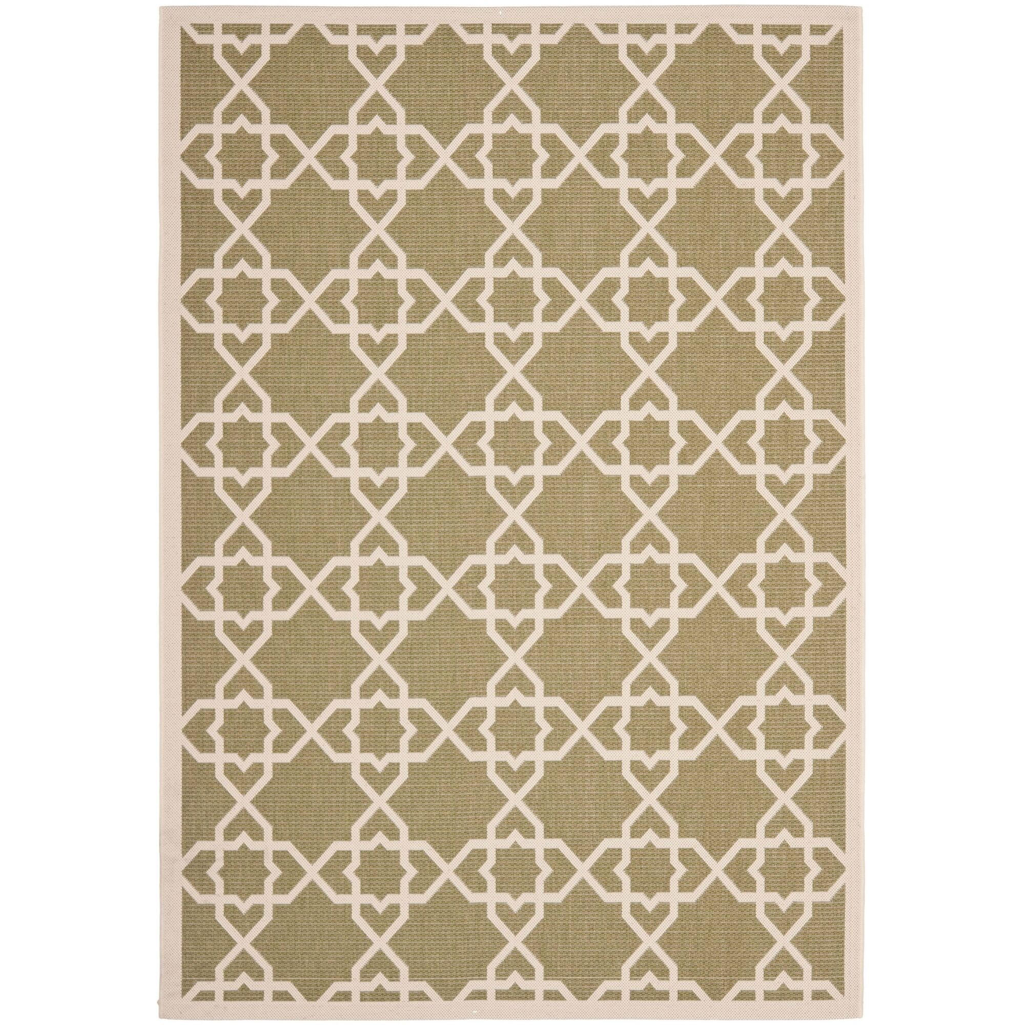 Bexton Green / Beige Indoor/Outdoor Rug Rug Size: Rectangle 5'3