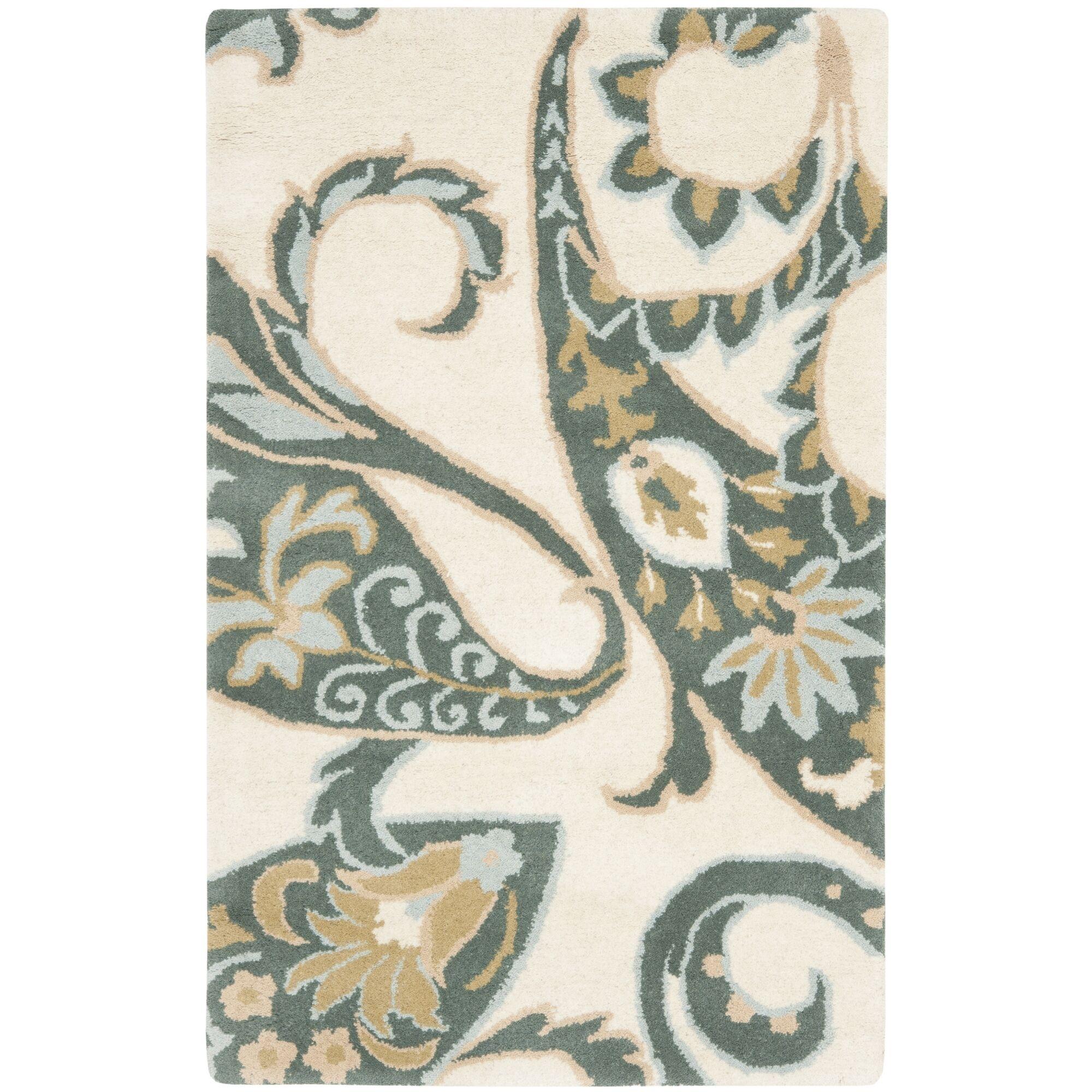 Wyndham Ivory / Multi Rug Rug Size: 4' x 6'