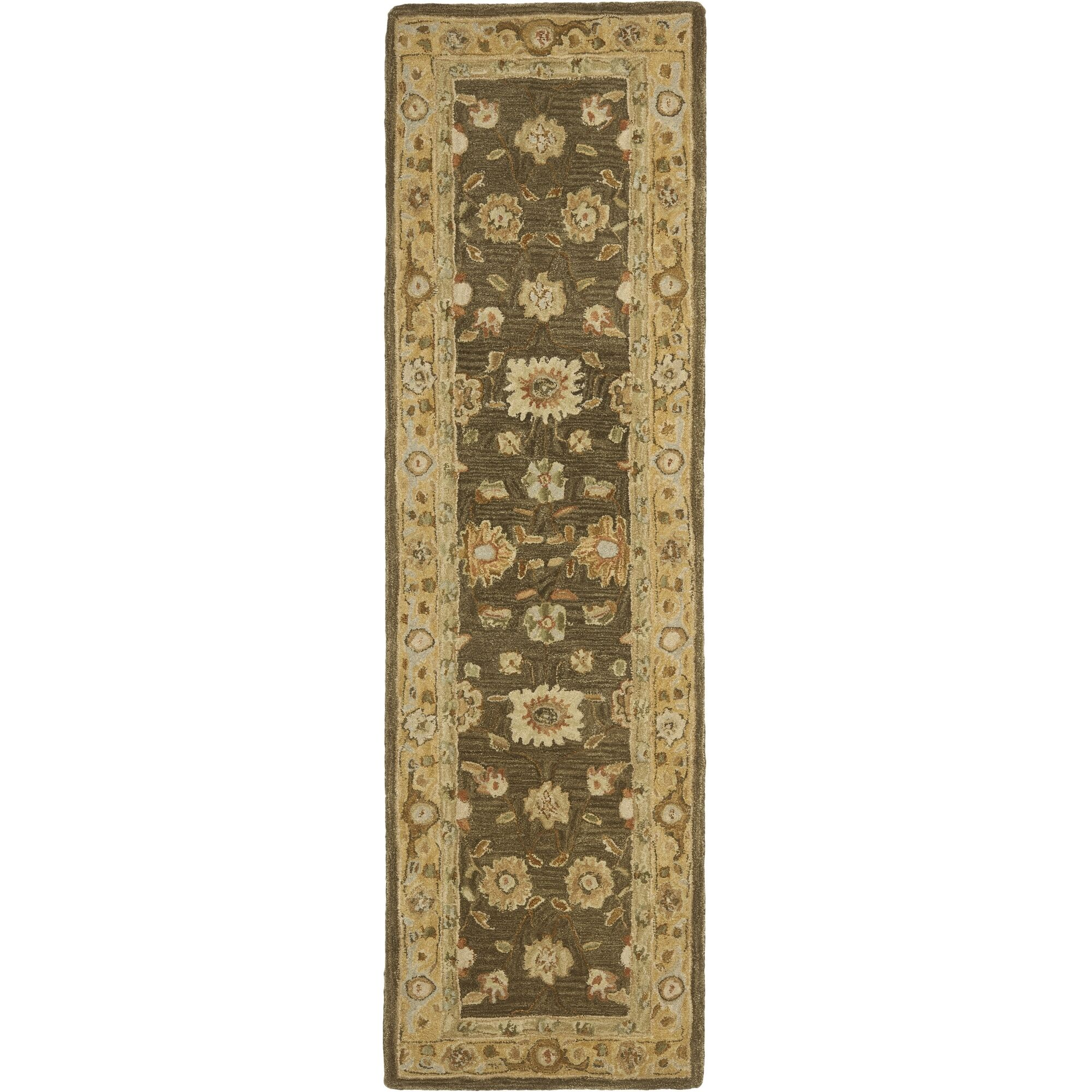 Anatolia Brown/Taupe Area Rug Rug Size: Runner 2'3