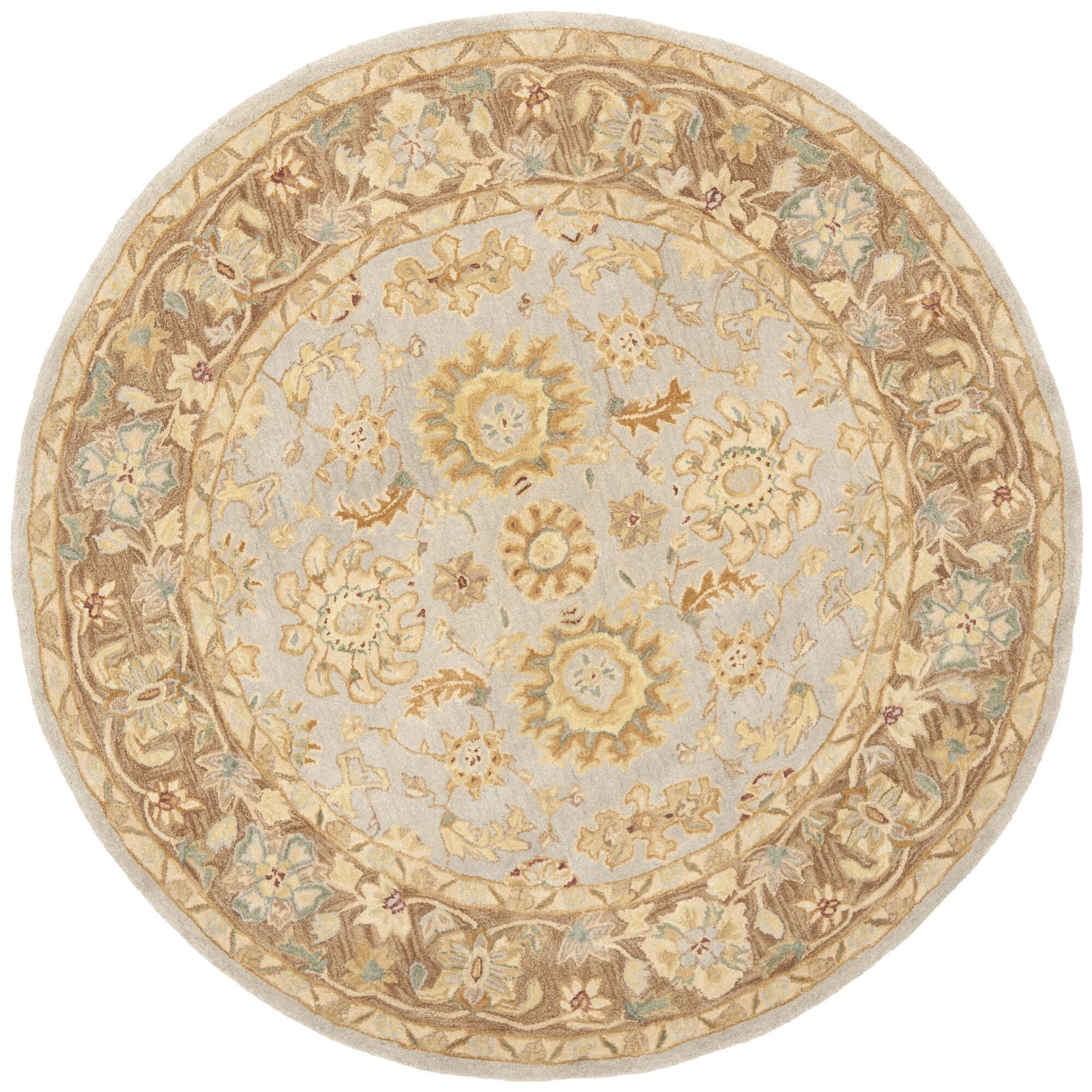 Anatolia Hand-Tufted Teal/Brown Area Rug Rug Size: Rectangle 9' x 12'