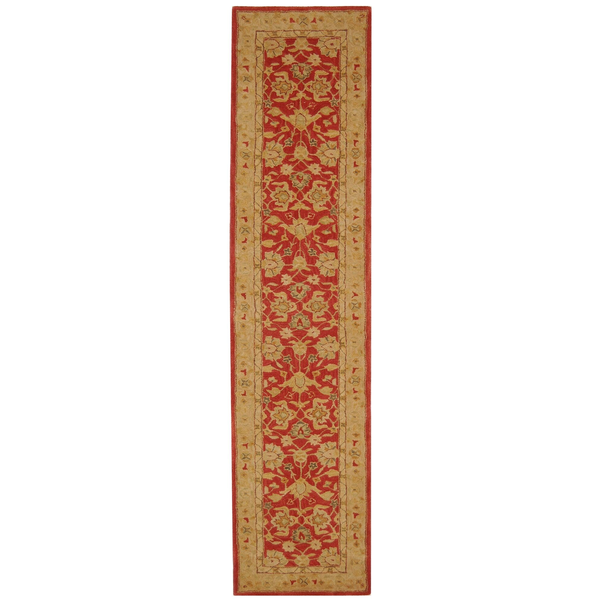 Pritchard Hand-Tufted/Hand-Hooked  Red/Ivory Area Rug Rug Size: Runner 2'3