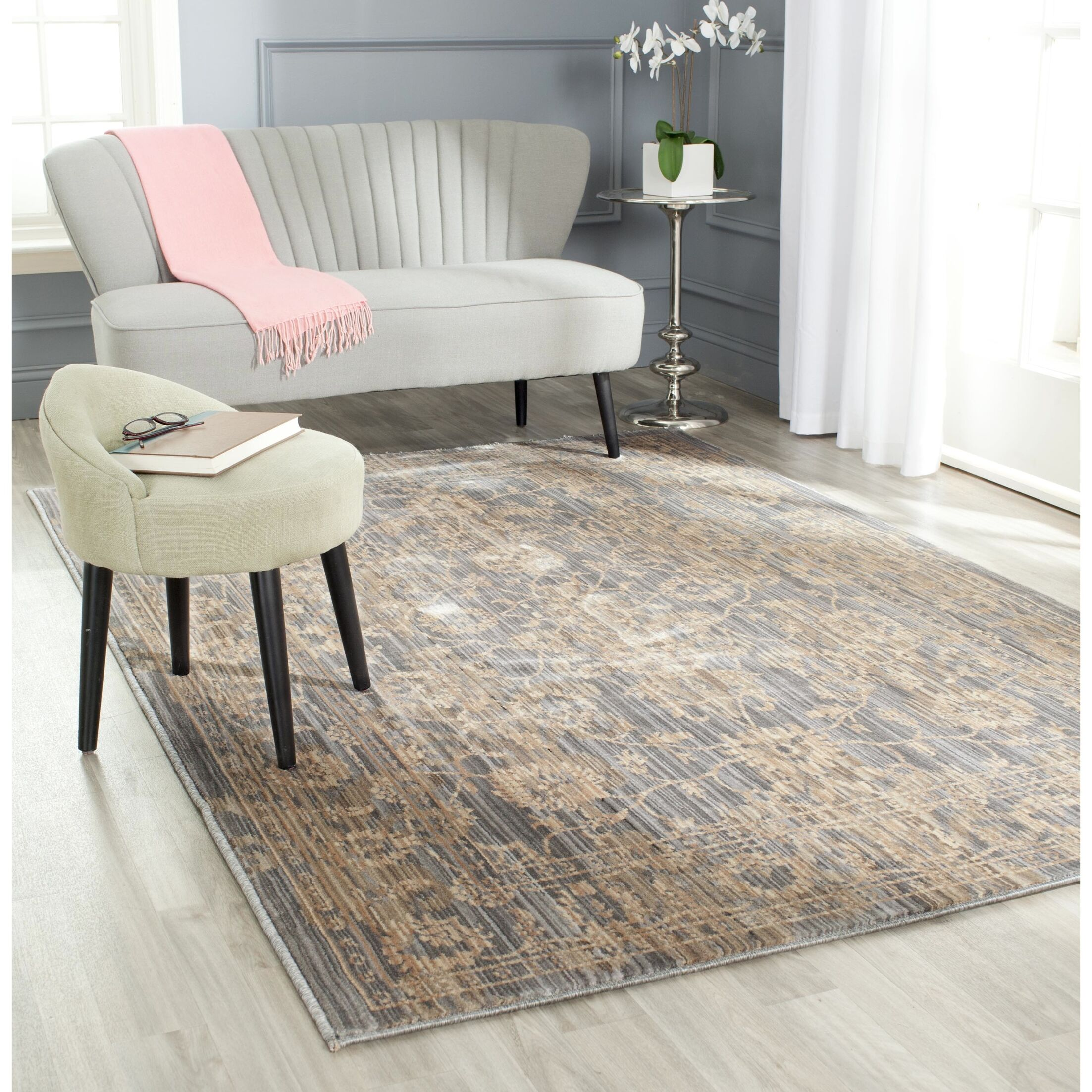Infinity Oriental Brown Area Rug Rug Size: Rectangle 8' x 10'