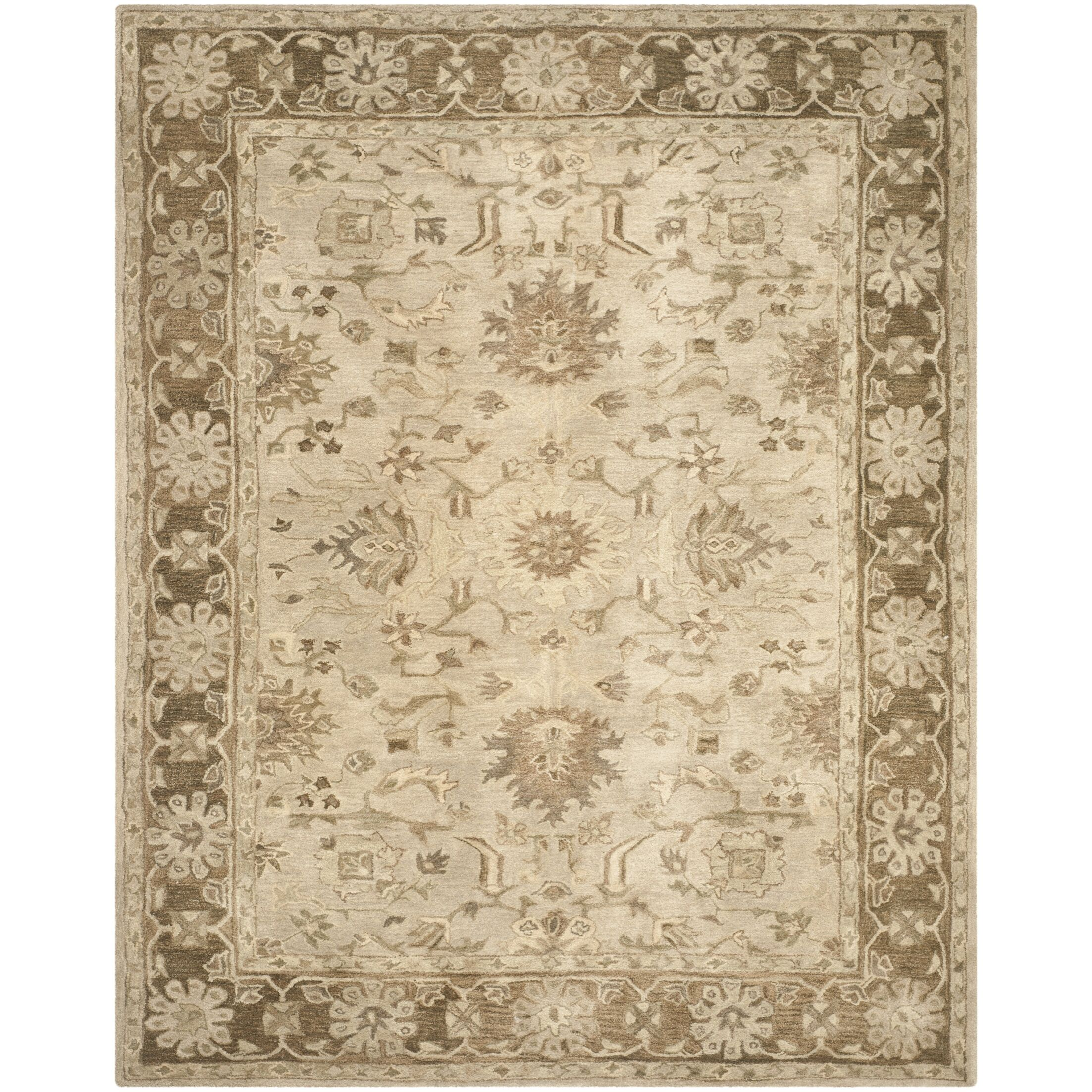 Anatolia Brown Area Rug Rug Size: Rectangle 6' x 9'