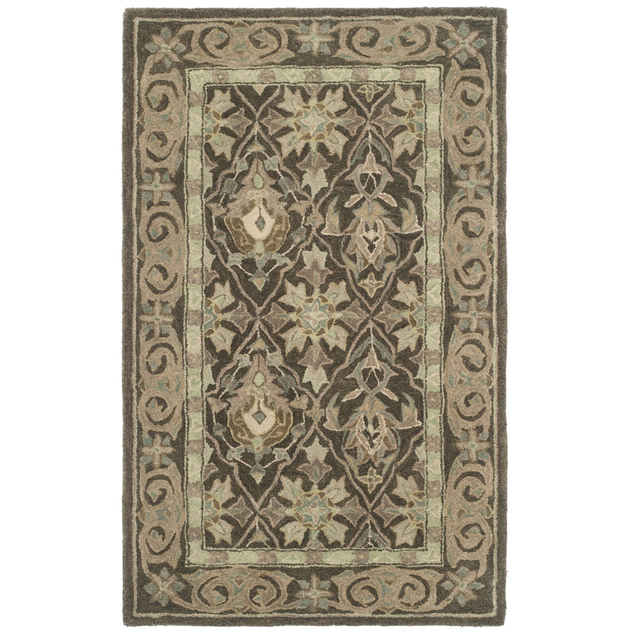 Anatolia Brown/Beige Area Rug Rug Size: Rectangle 4' x 6'