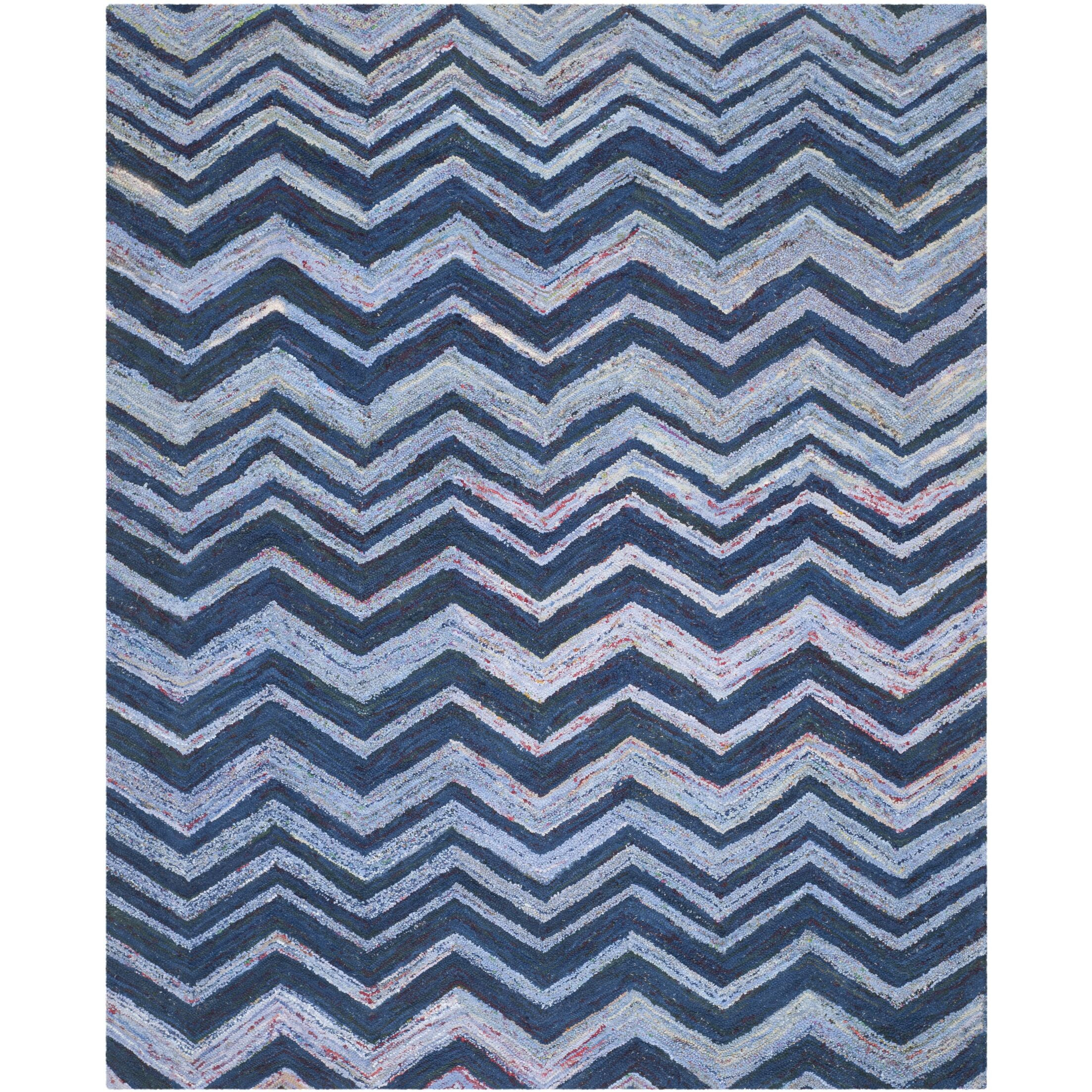Anaheim Hand-Woven Cotton Blue Area Rug Rug Size: Rectangle 8' x 10'