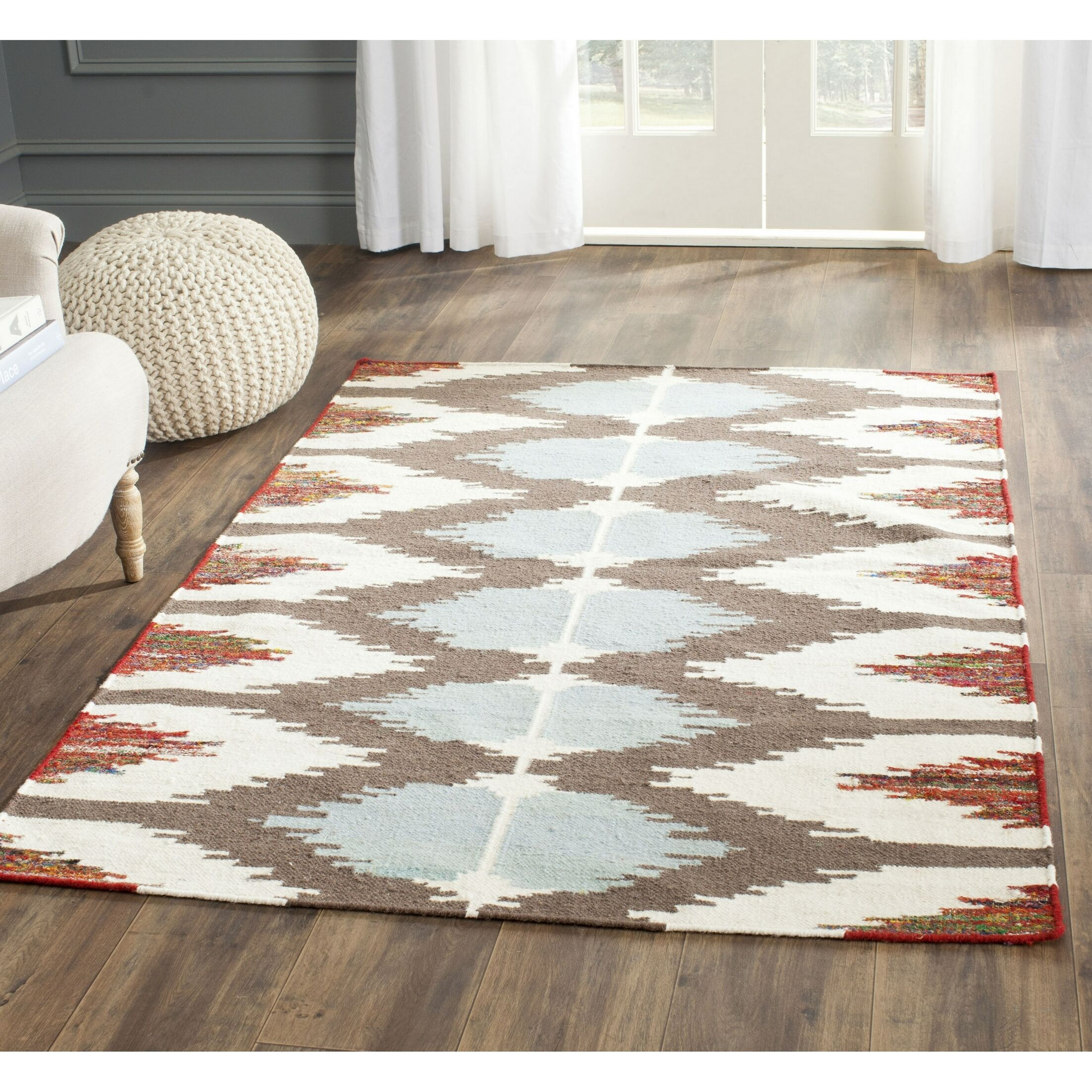 Dhurries Cotton Area Rug Rug Size: Rectangle 5' x 8'
