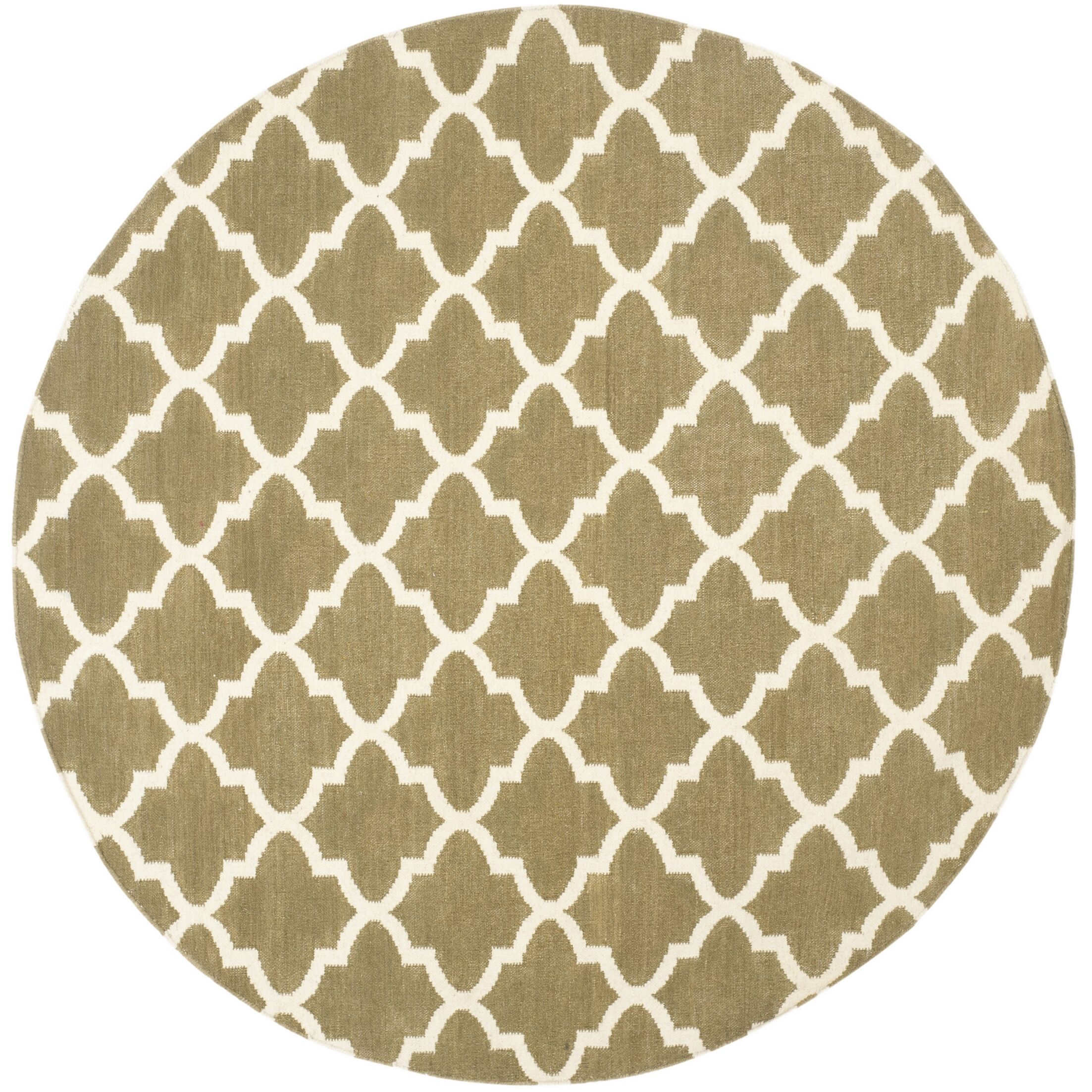 Dhurries Green / Ivory Area Rug Rug Size: Rectangle 4' x 6'